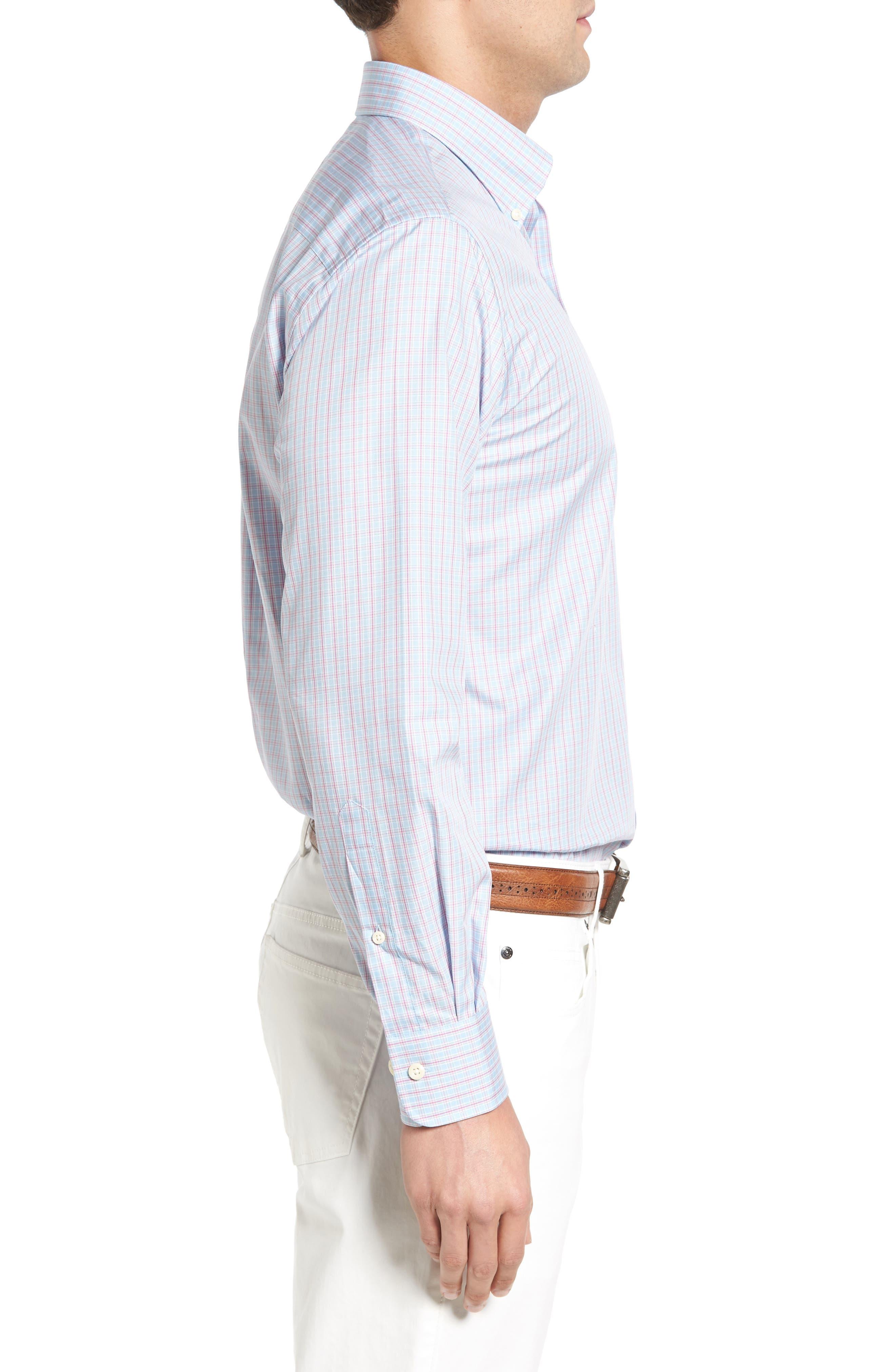 Temple Regular Fit Check Sport Shirt,                             Alternate thumbnail 3, color,                             453
