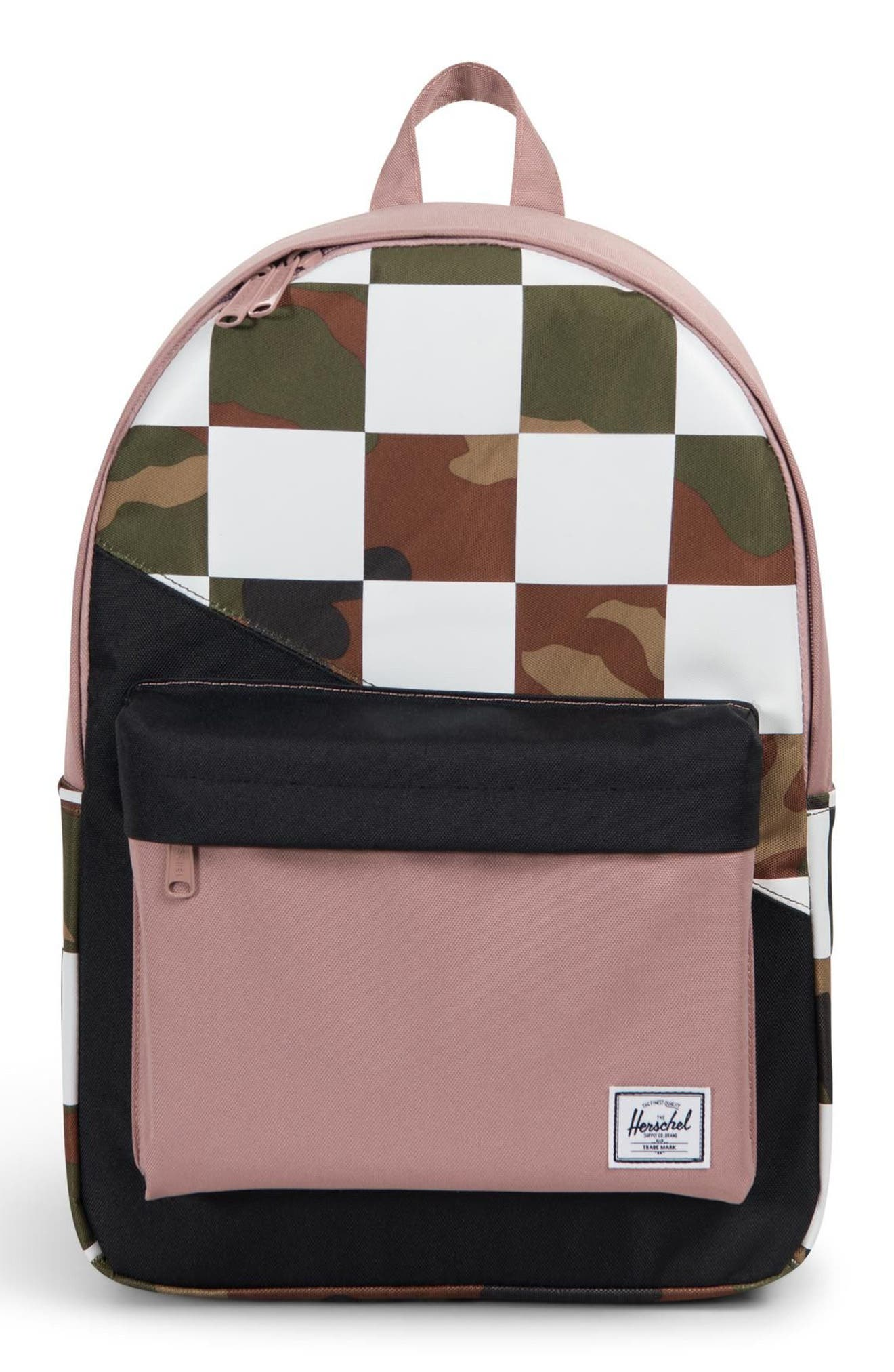 Classic Kaleidoscope Backpack,                         Main,                         color, WOODLAND/ ASH ROSE/ CHECKER