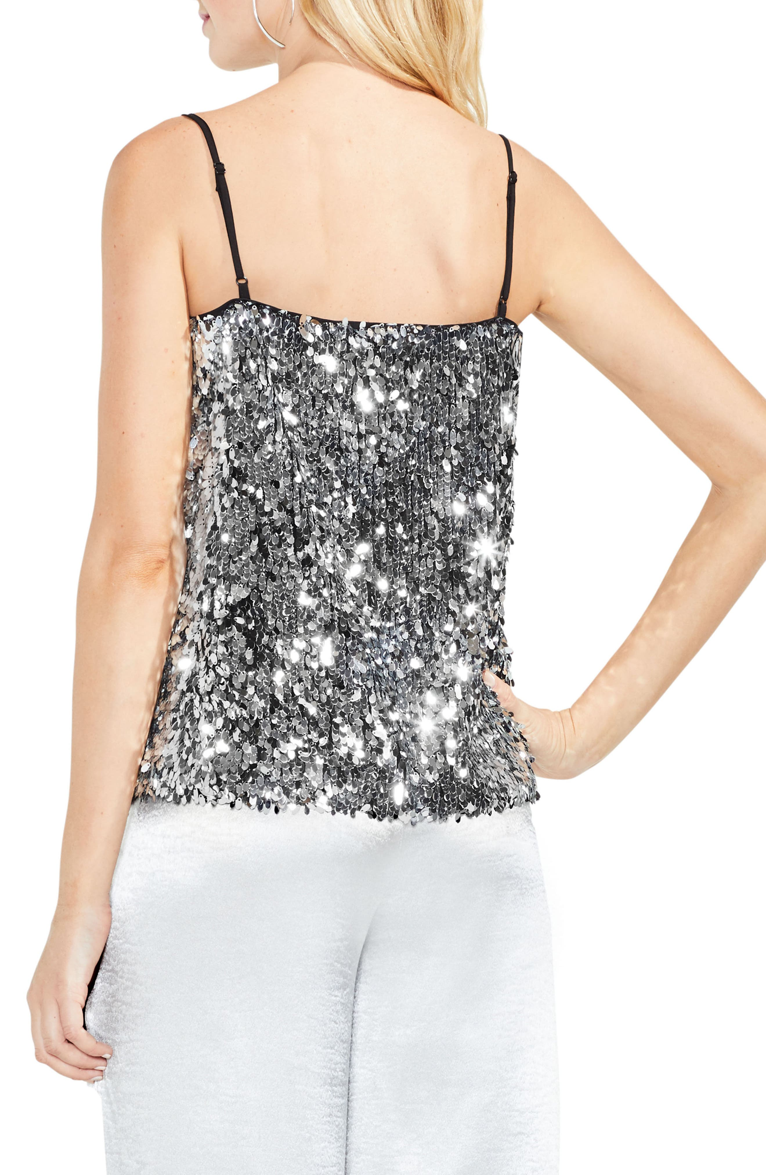 Allover Sequin Camisole Top,                             Alternate thumbnail 2, color,