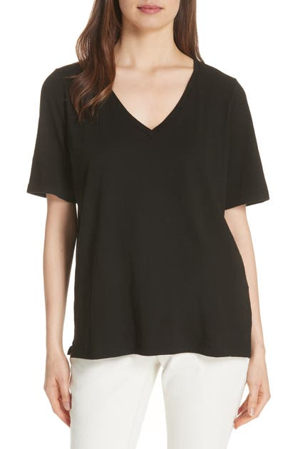 Eileen Fisher Tops V-NECK ORGANIC COTTON TEE