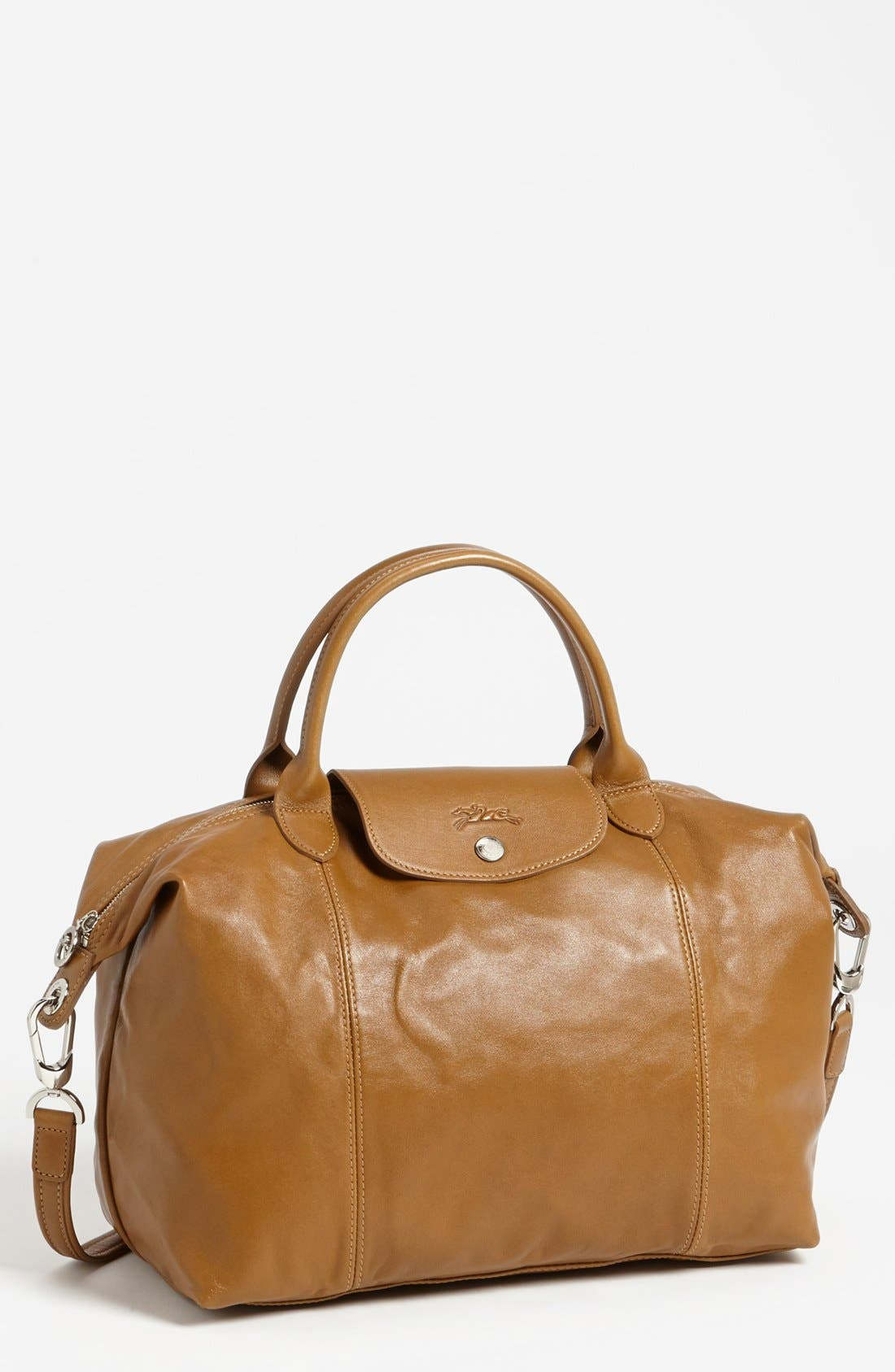 Medium 'Le Pliage Cuir' Leather Top Handle Tote,                             Main thumbnail 10, color,