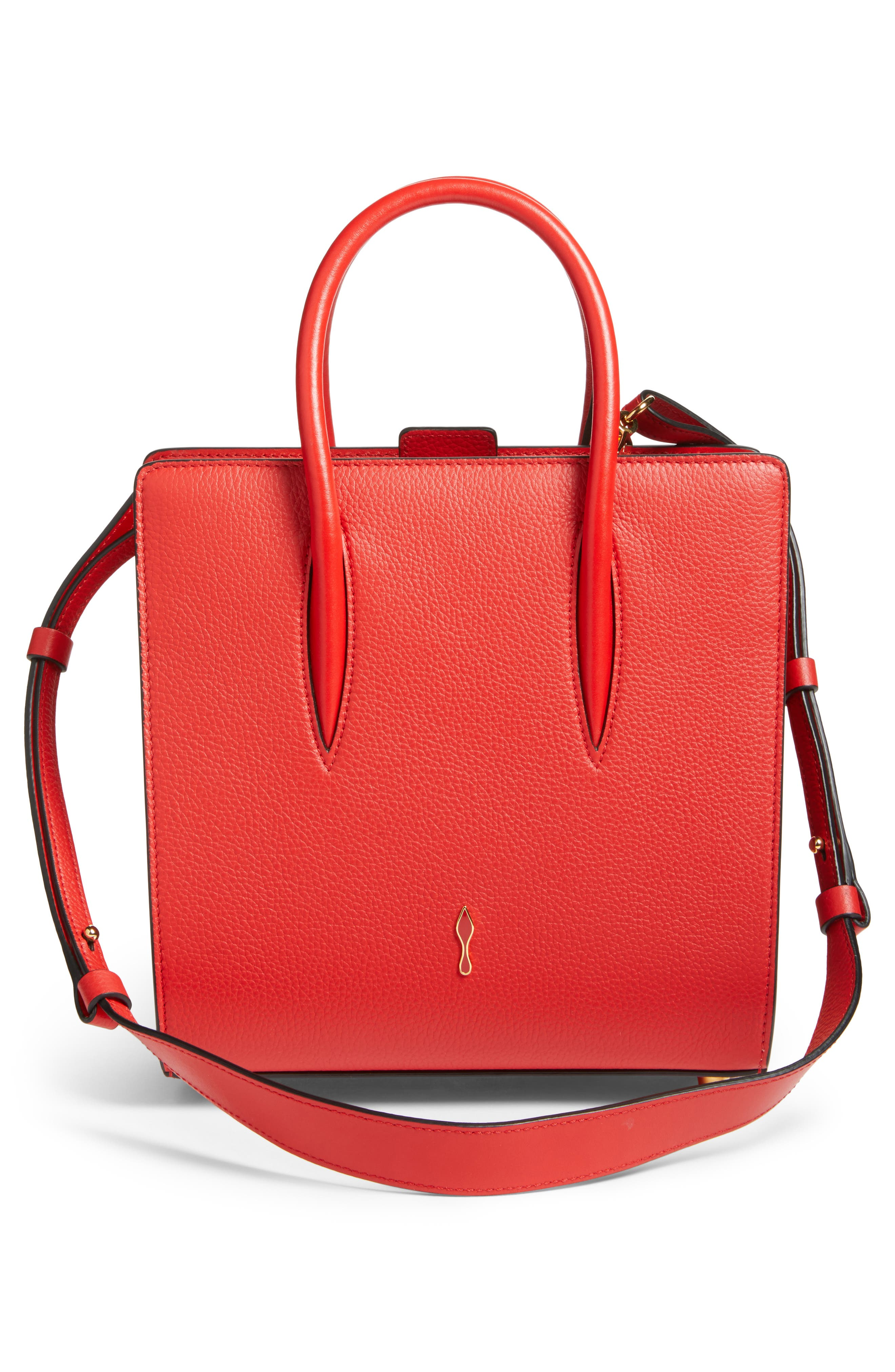 Small Paloma Empire Leather Tote,                             Alternate thumbnail 2, color,                             RED/ RED
