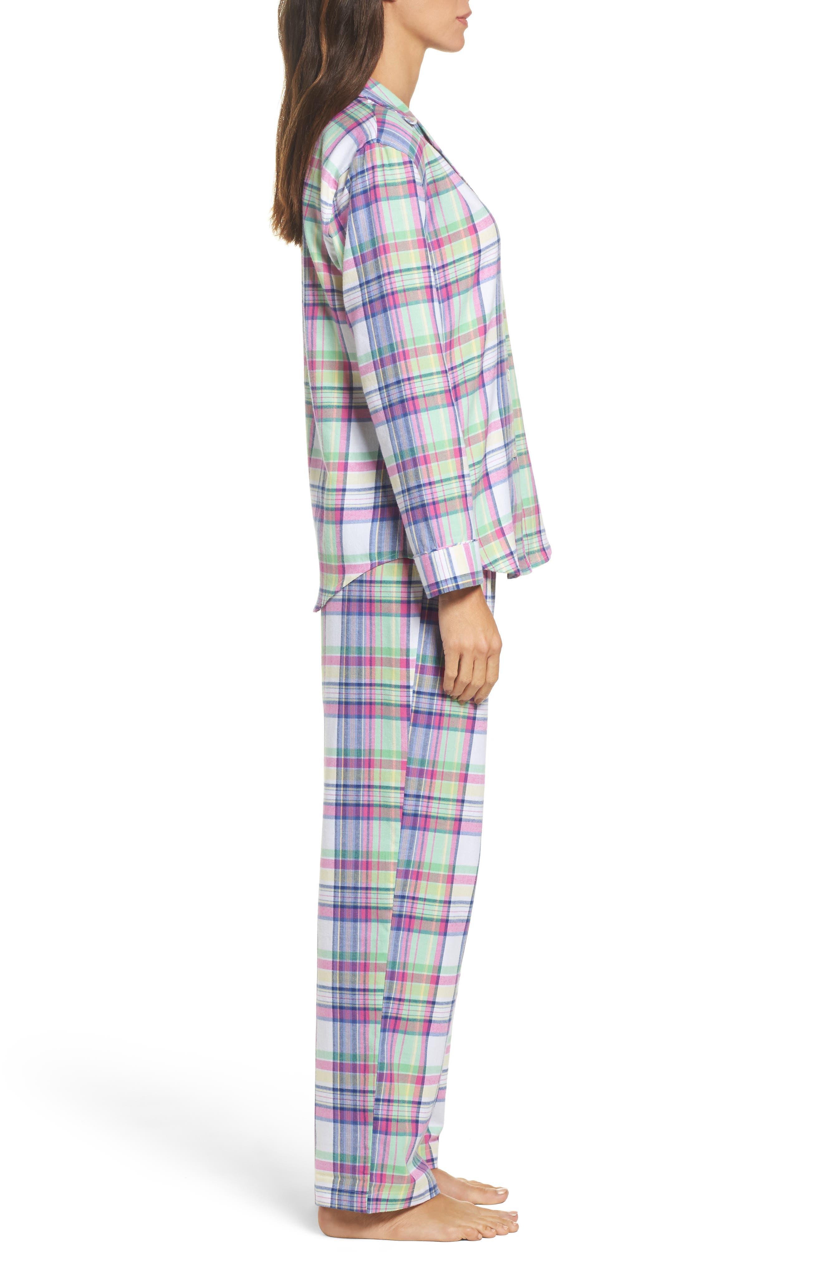 Notch Collar Pajamas,                             Alternate thumbnail 3, color,                             304