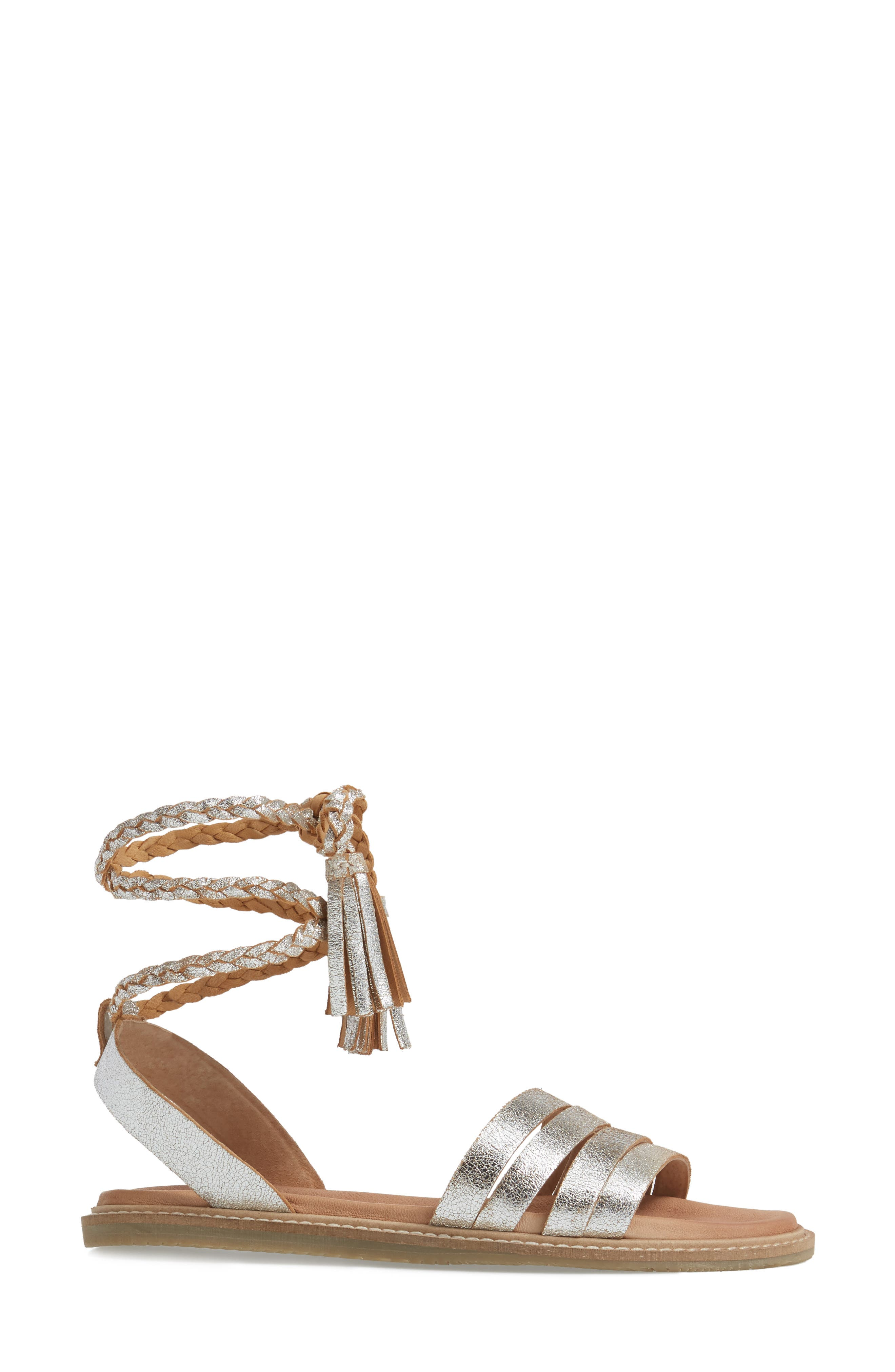 SEYCHELLES,                             Botanical Tassel Wraparound Sandal,                             Alternate thumbnail 3, color,                             040