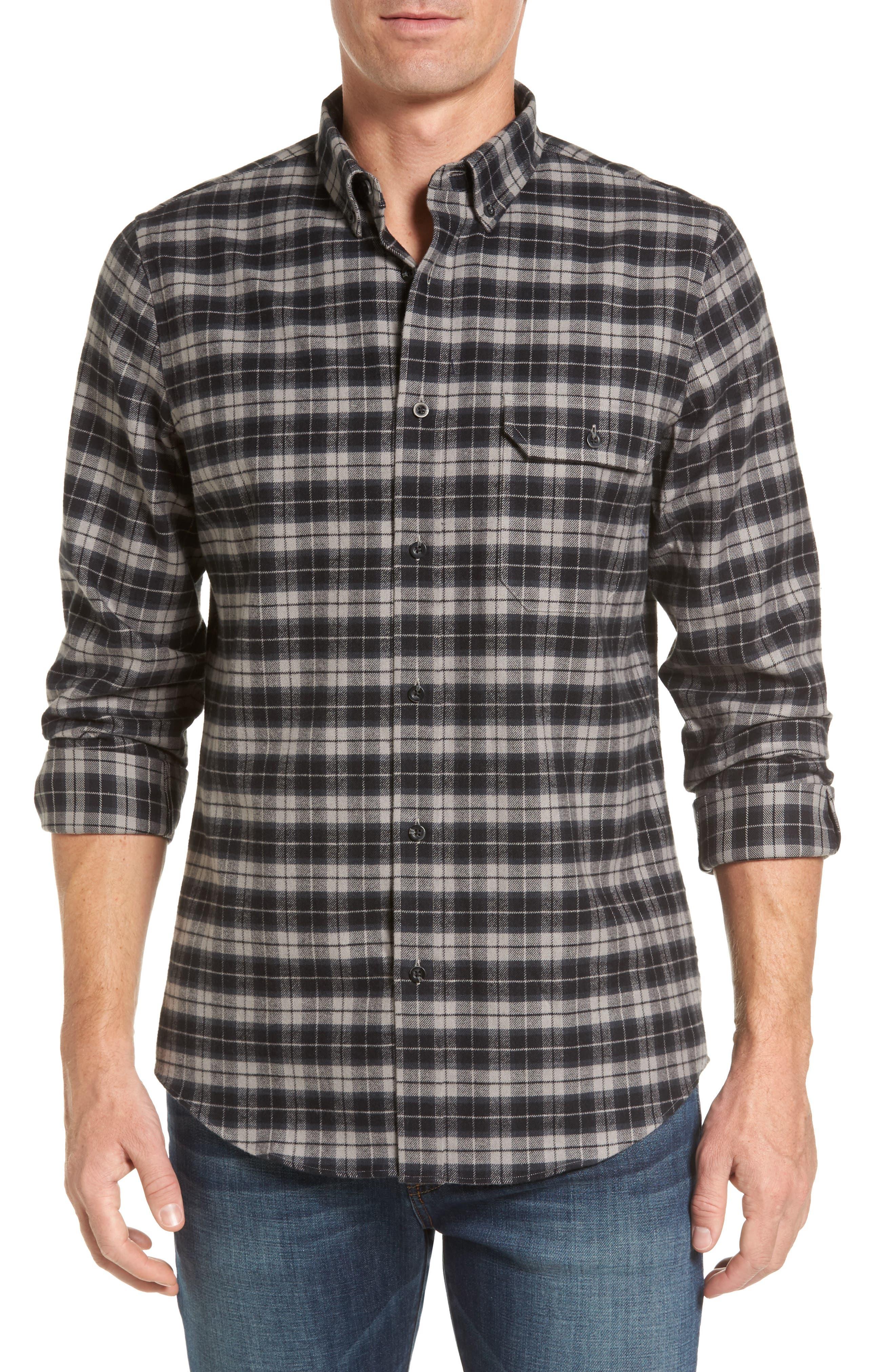 Regular Fit Plaid Sport Shirt,                         Main,                         color, 030