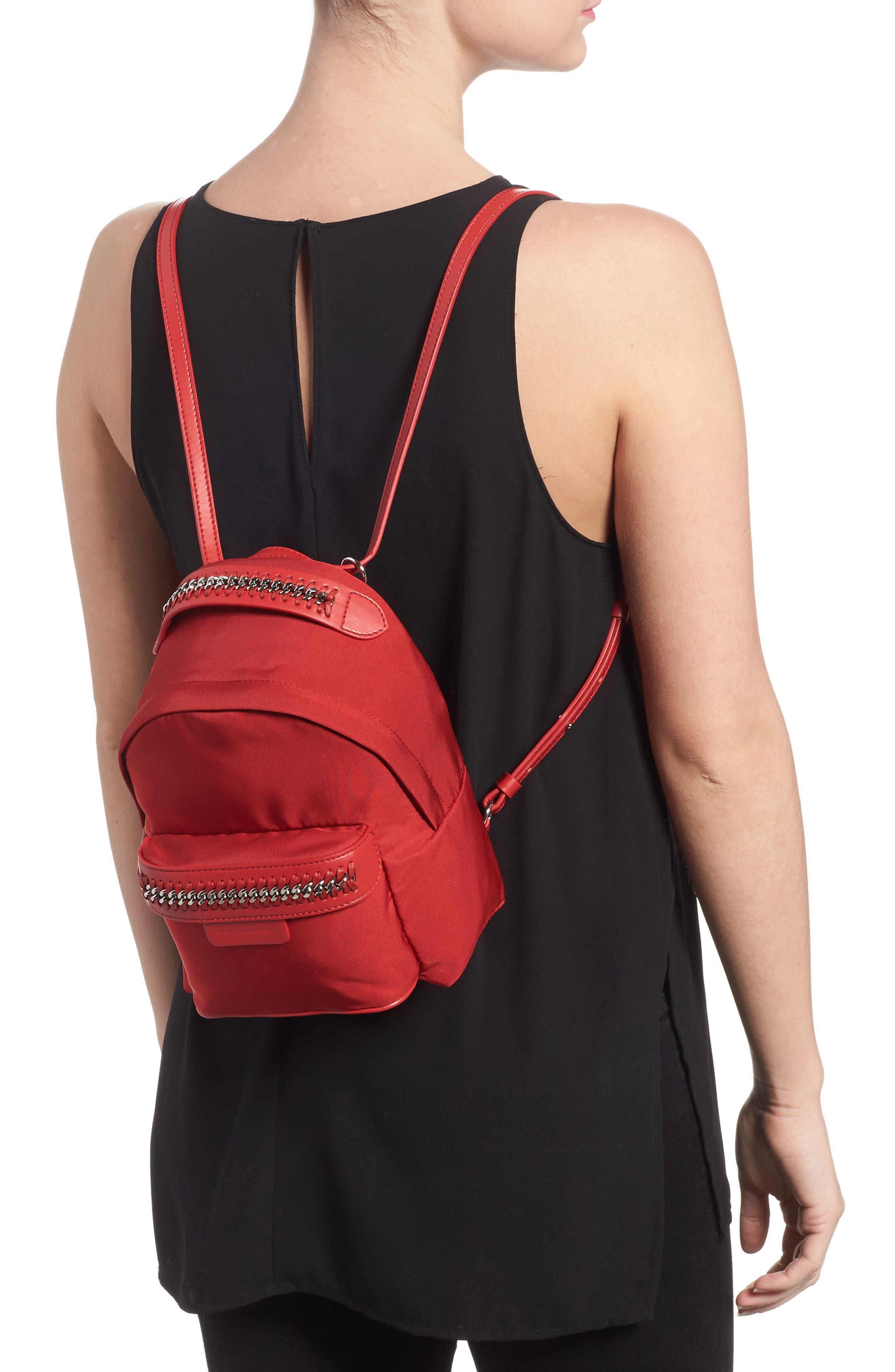 Mini Falabella Nylon Backpack,                             Alternate thumbnail 4, color,
