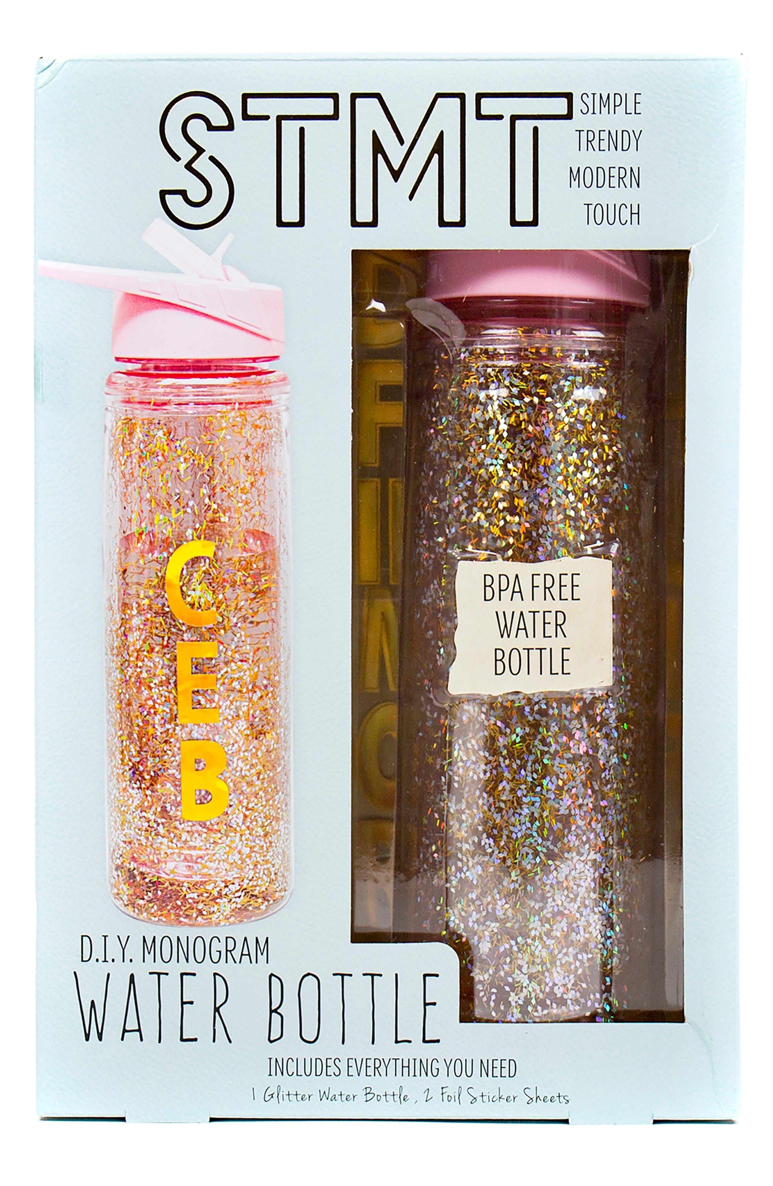 DIY Monogram Water Bottle,                         Main,                         color, N/ A