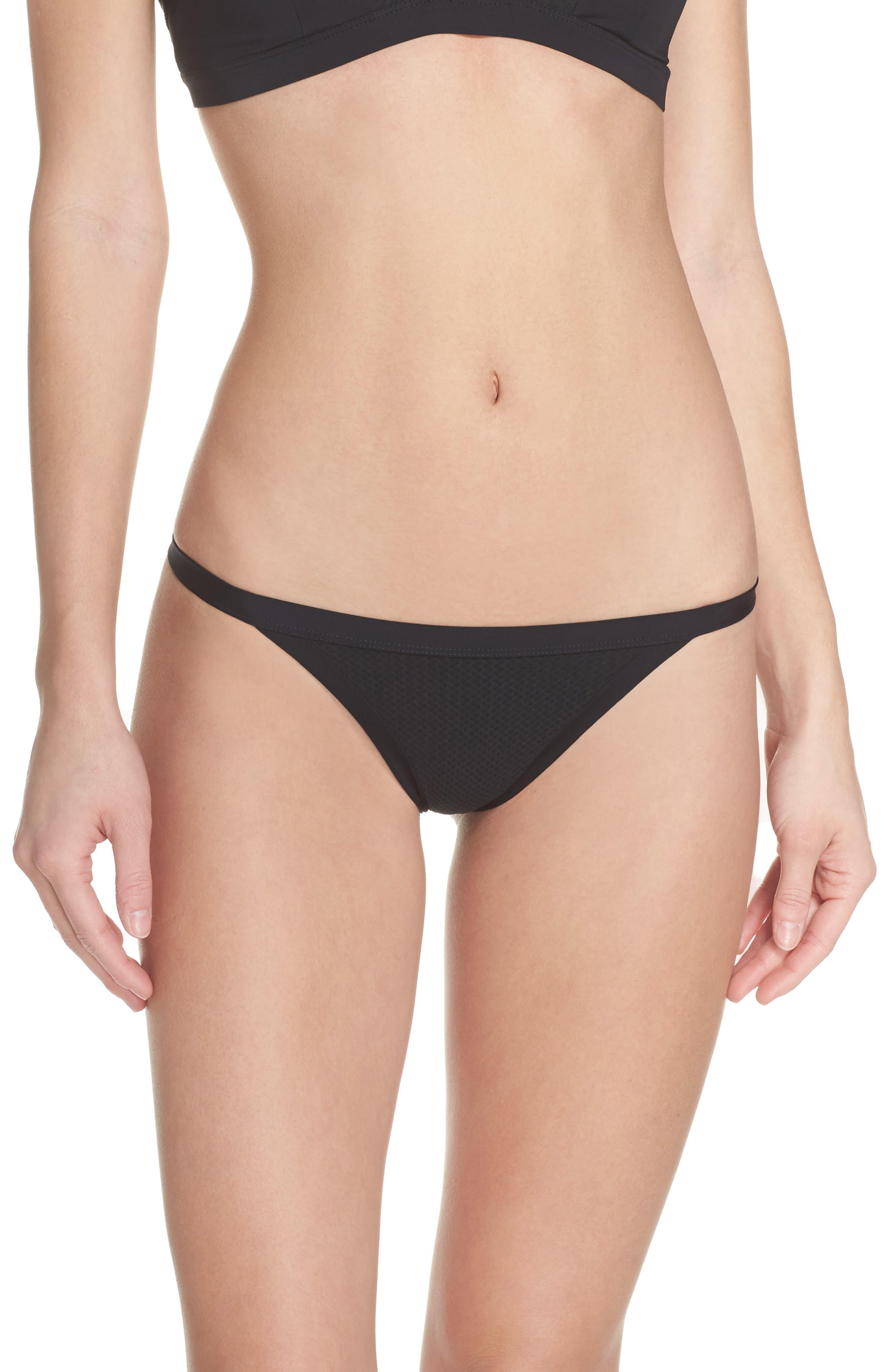 Quick Dry Mesh Bikini Bottoms,                             Main thumbnail 1, color,                             010