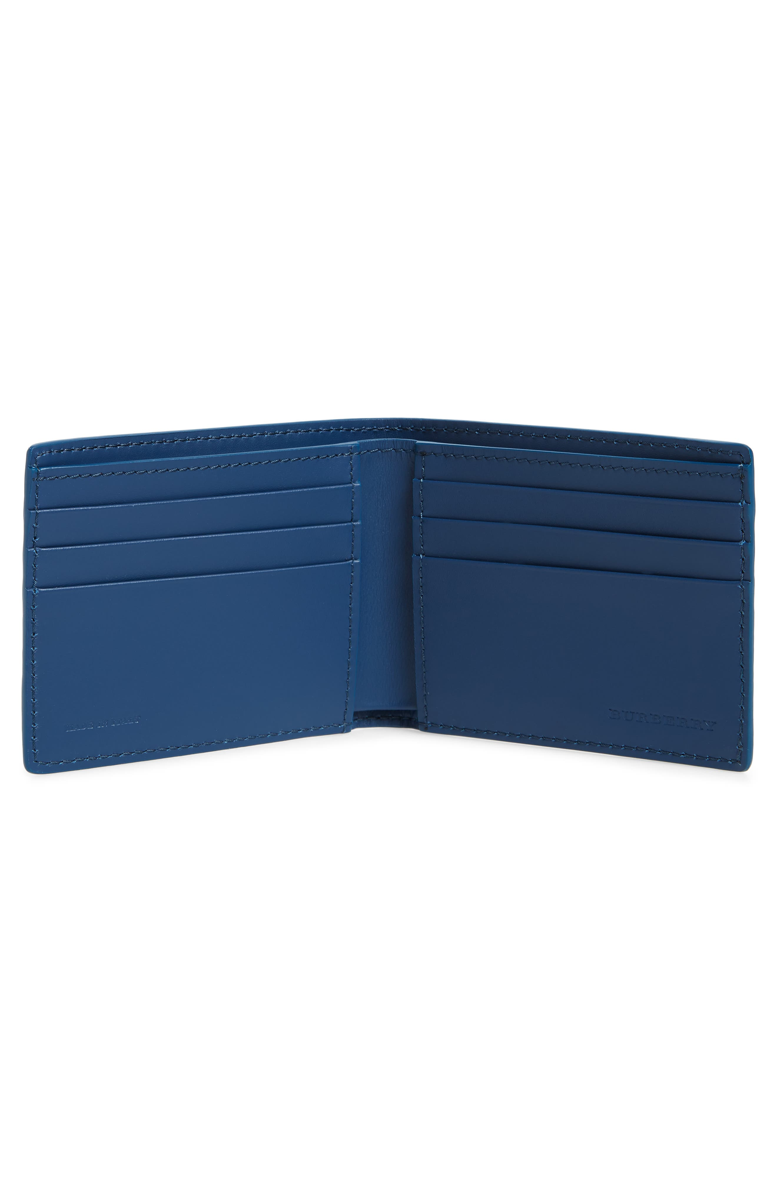 Bifold Leather Wallet,                             Alternate thumbnail 2, color,                             BRIGHT ULTRAMARINE