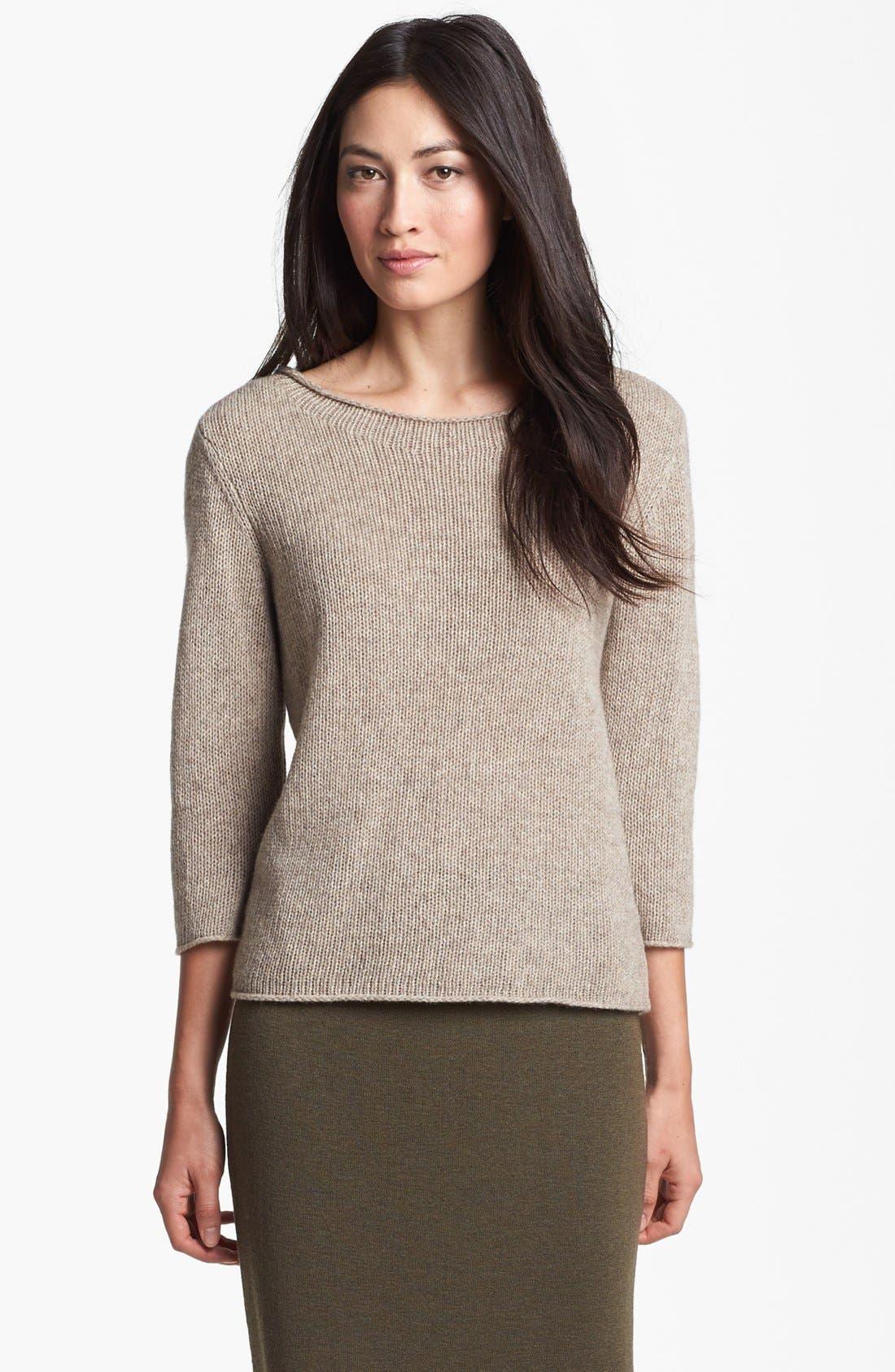 EILEEN FISHER Wool & Yak Wool Sweater, Main, color, 216