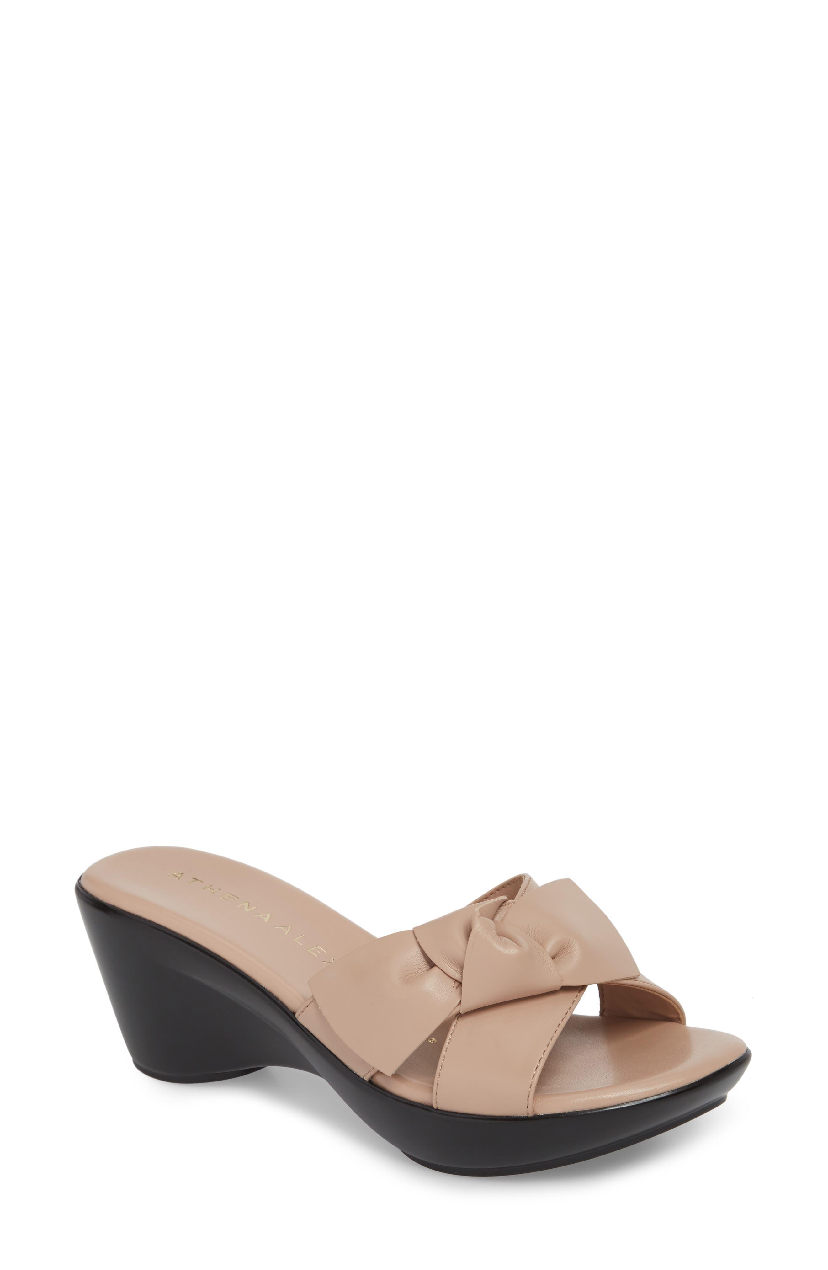 Athena Alexander Giada Wedge Sandal- Pink
