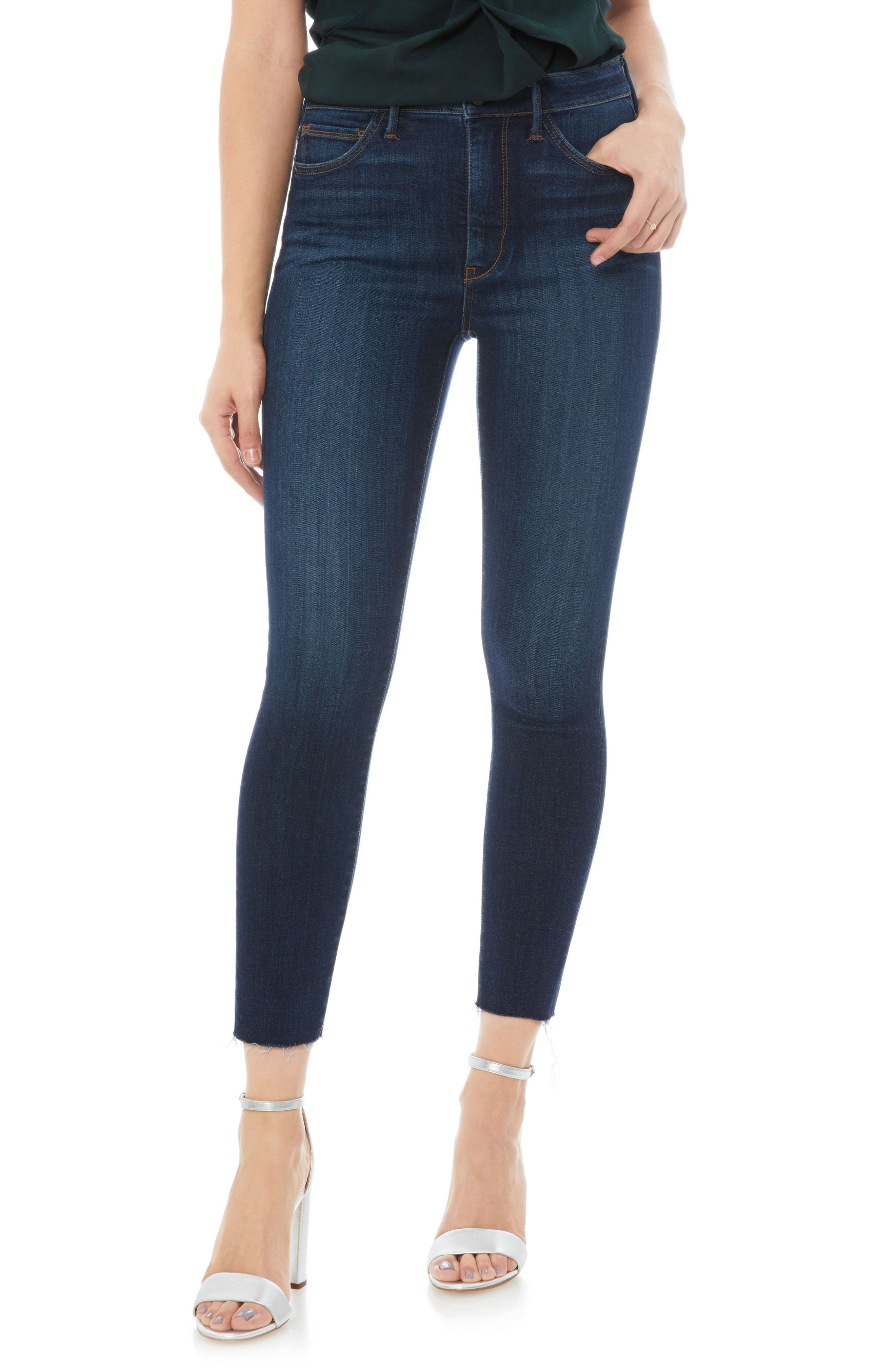 The Stiletto Raw Edge Skinny Jeans,                             Main thumbnail 1, color,                             JACOB