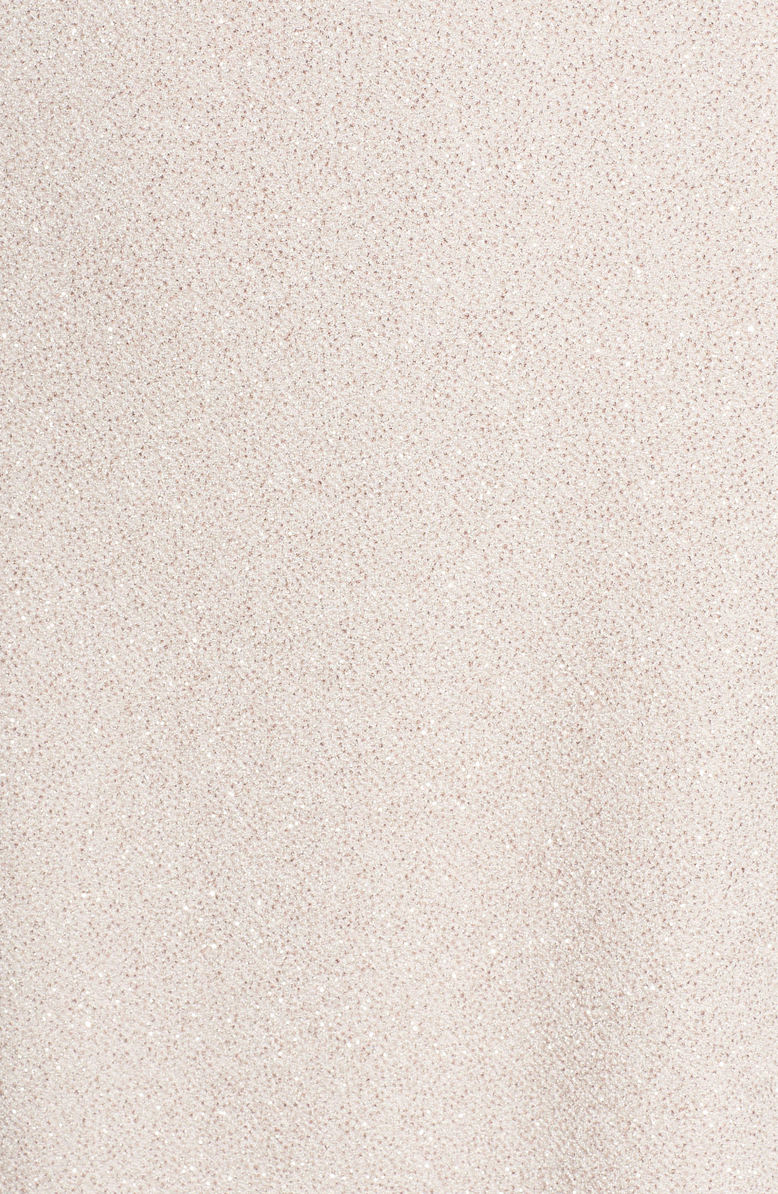 Glitter Knit Sheath Dress,                             Alternate thumbnail 5, color,