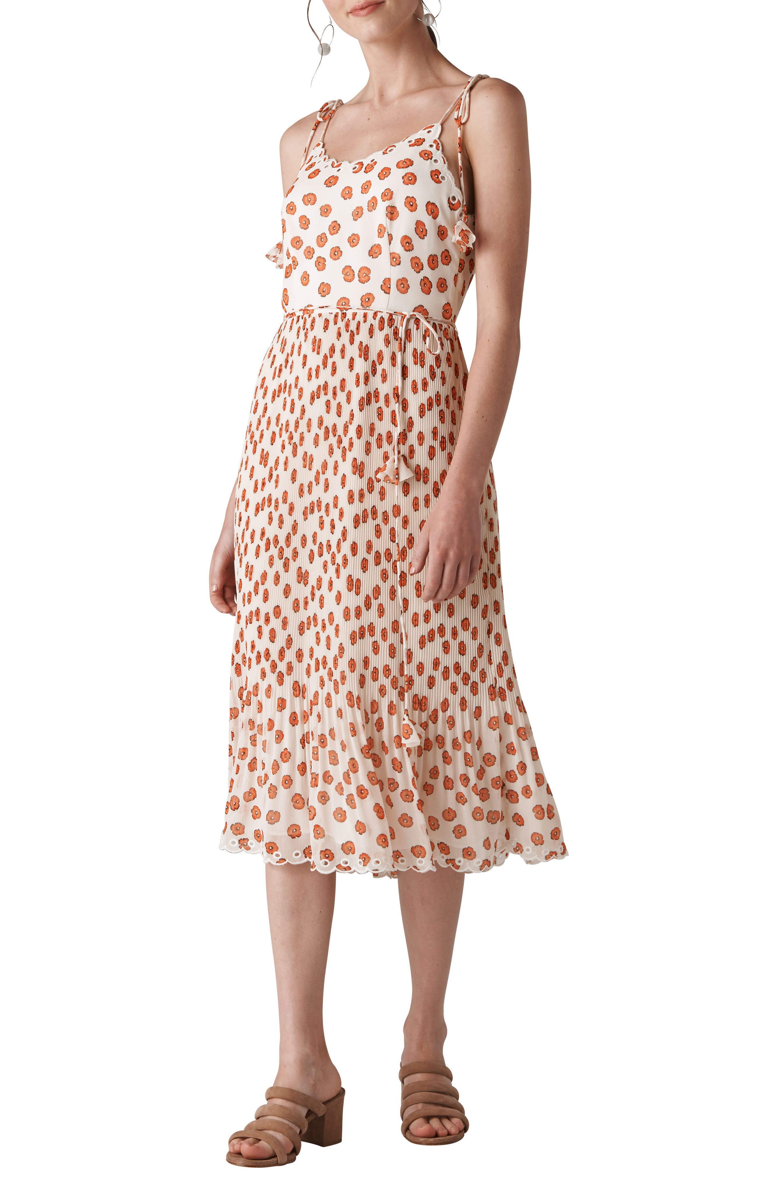 Salome Lenno Print Midi Dress,                             Main thumbnail 1, color,                             100