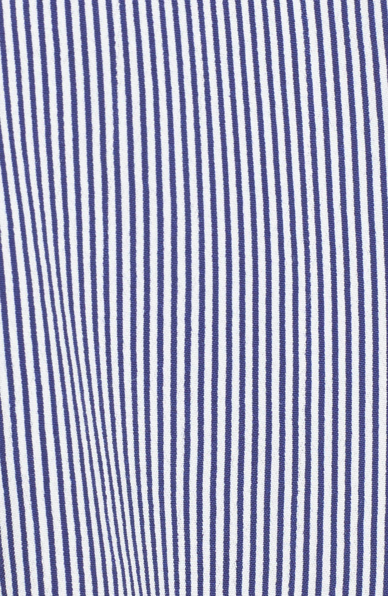 Nova Stripe Lace-Up Shirtdress,                             Alternate thumbnail 6, color,                             400