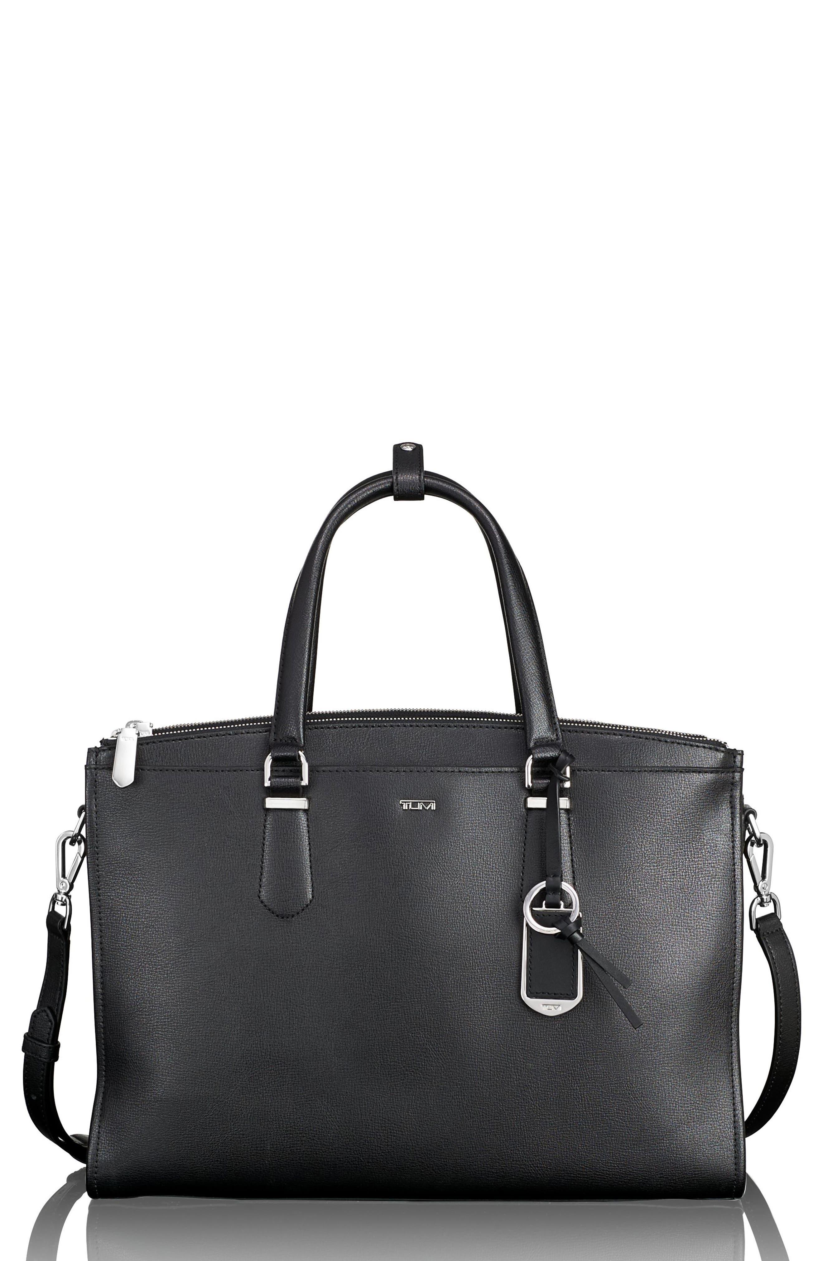Stanton – Esme Leather Business Briefcase,                             Main thumbnail 1, color,