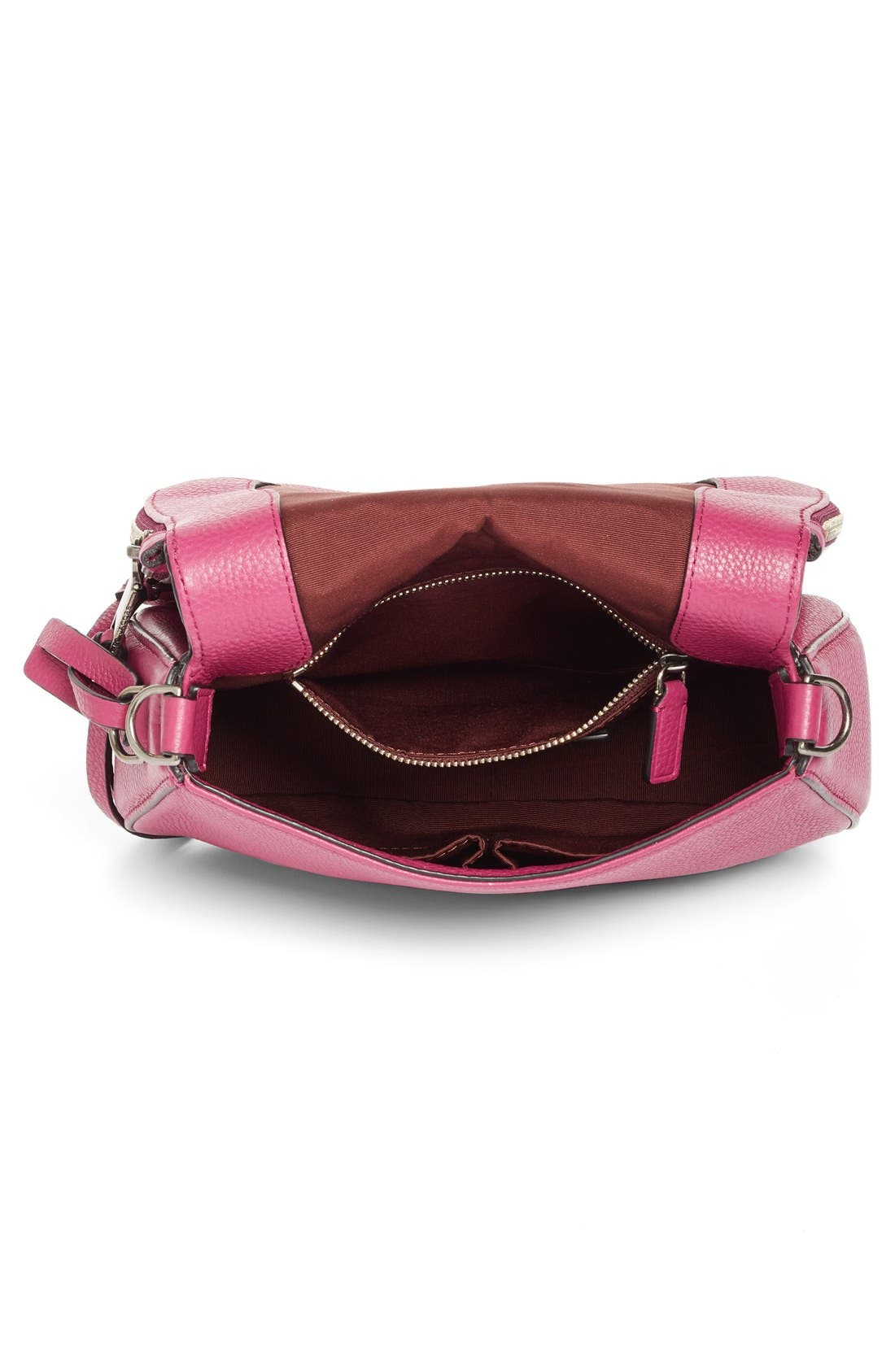 Small Recruit Nomad Pebbled Leather Crossbody Bag,                             Alternate thumbnail 95, color,