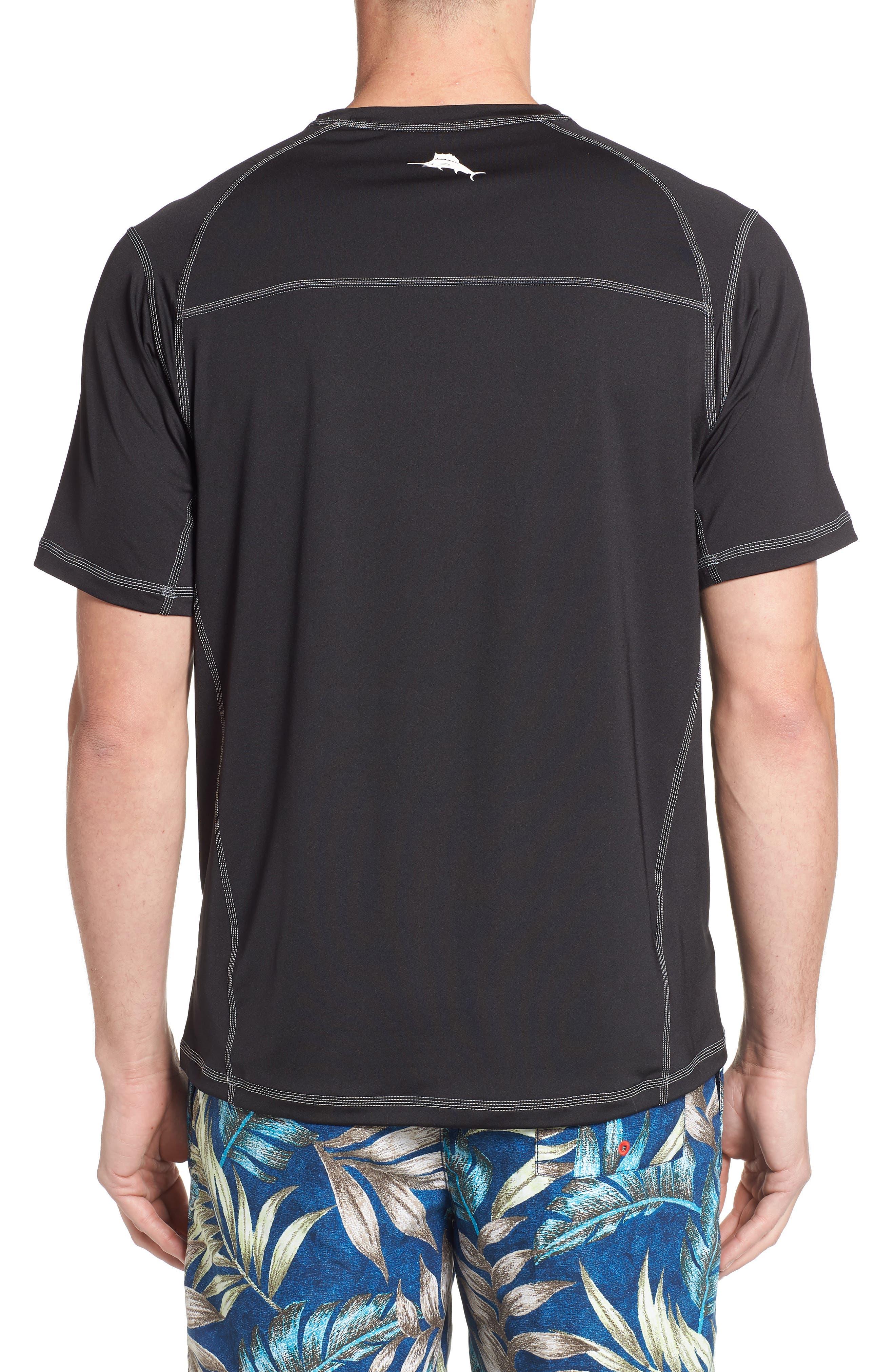 IslandActive<sup>™</sup> Beach Pro Rashguard T-Shirt,                             Alternate thumbnail 2, color,                             BLACK