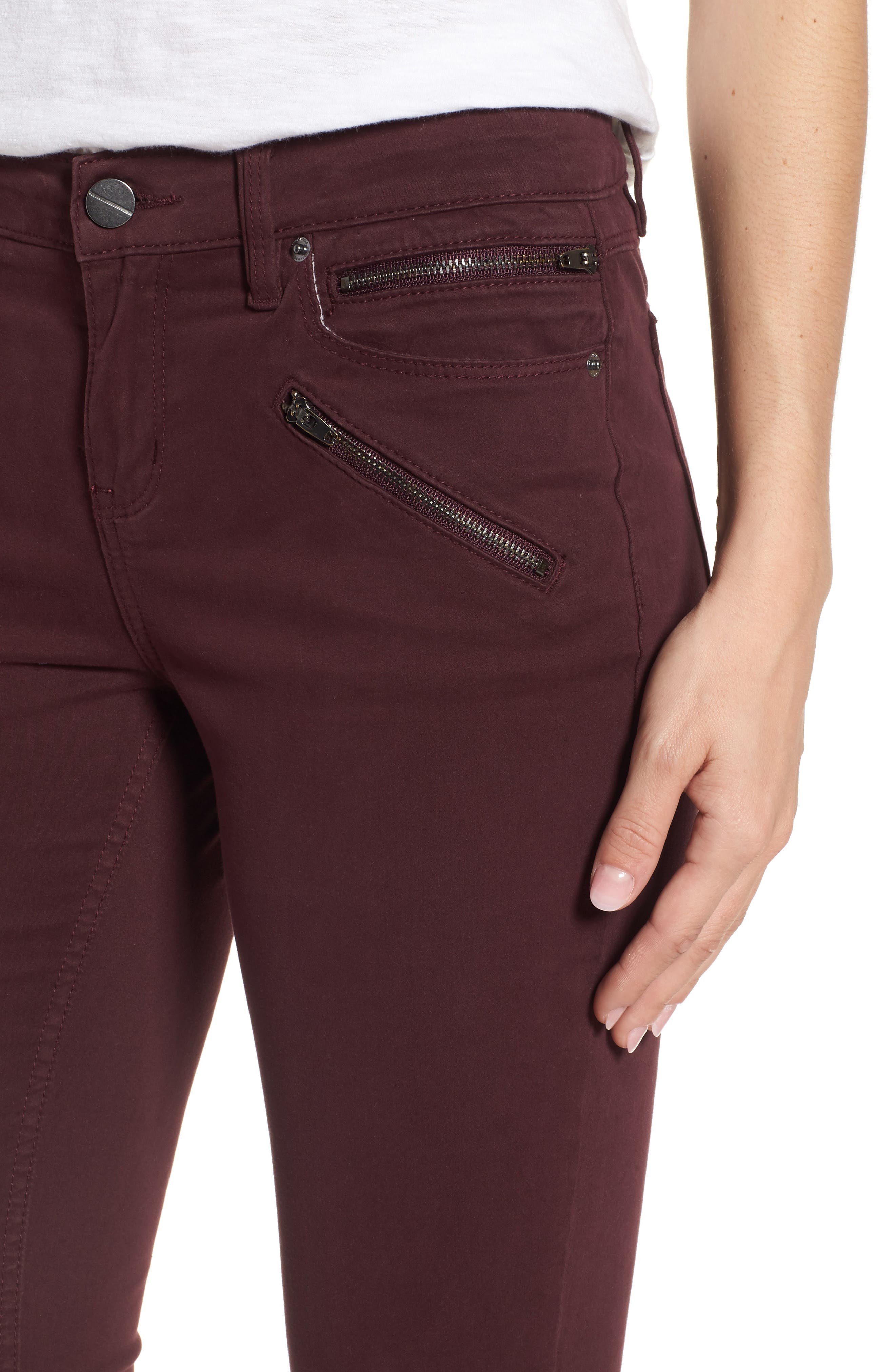 Moto Skinny Jeans,                             Alternate thumbnail 4, color,                             932