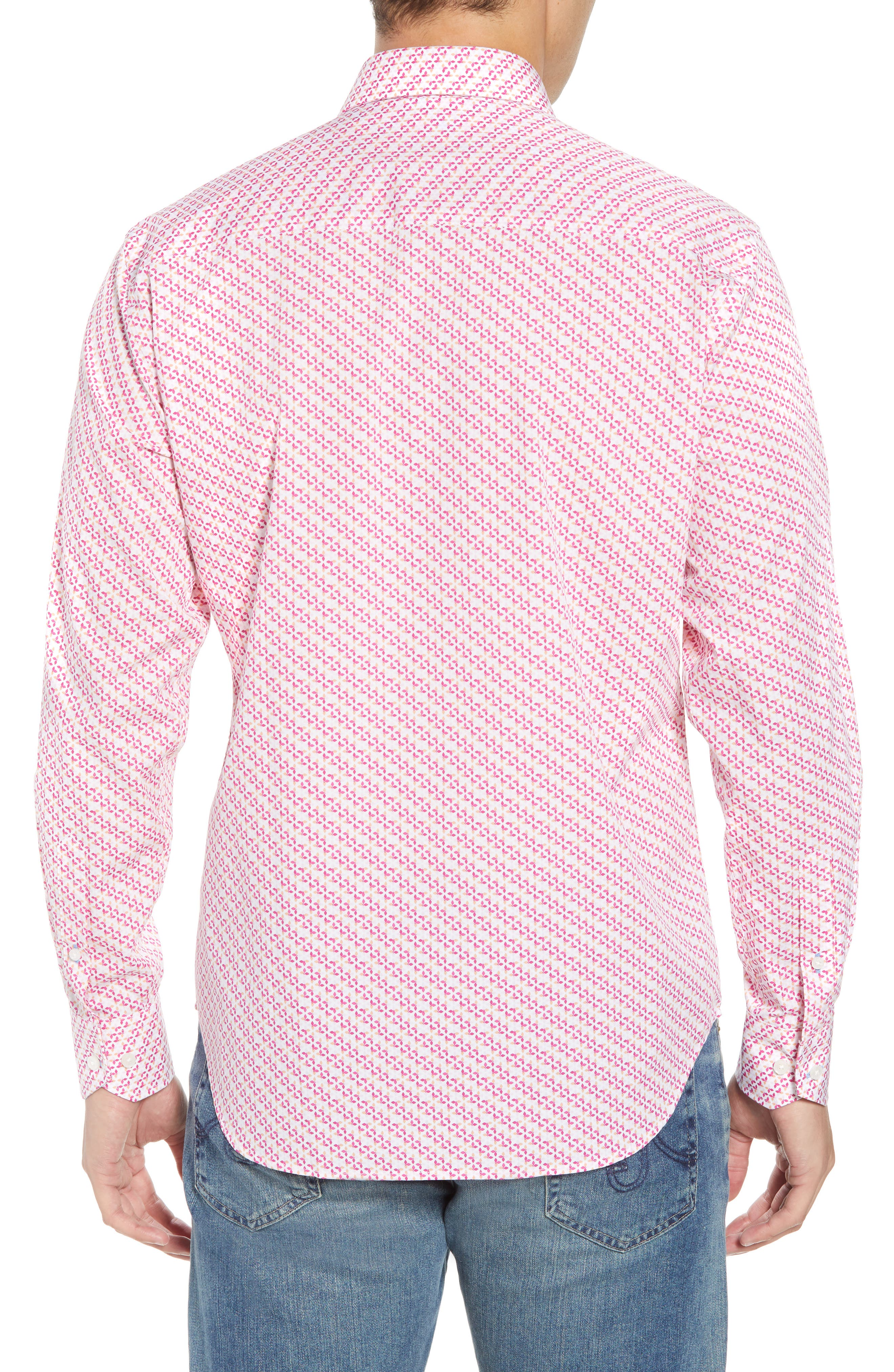 Ade Regular Fit Print Sport Shirt,                             Alternate thumbnail 2, color,