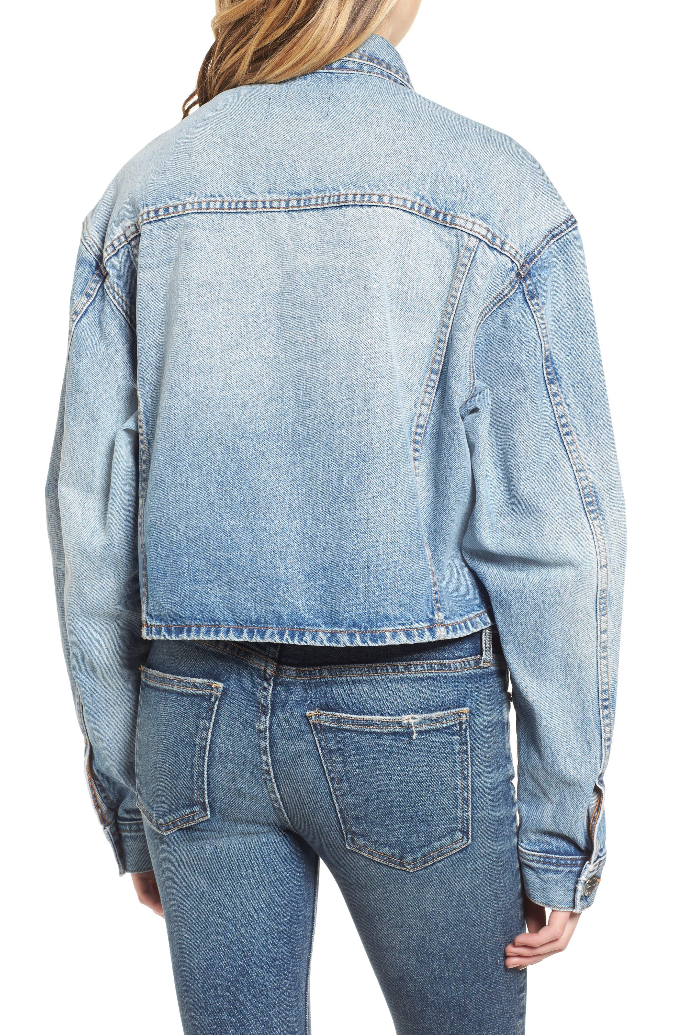 The Collin Crop Denim Jacket,                             Alternate thumbnail 2, color,                             485