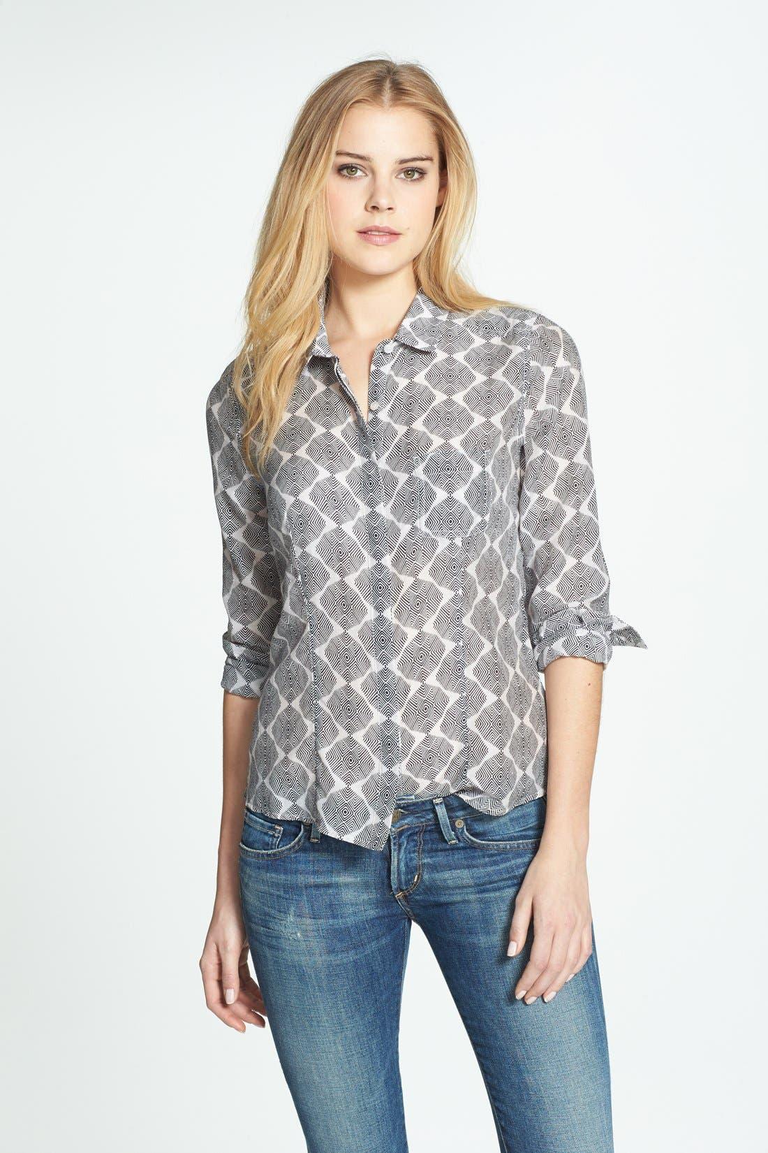 Cotton & Silk Shirt,                             Alternate thumbnail 128, color,