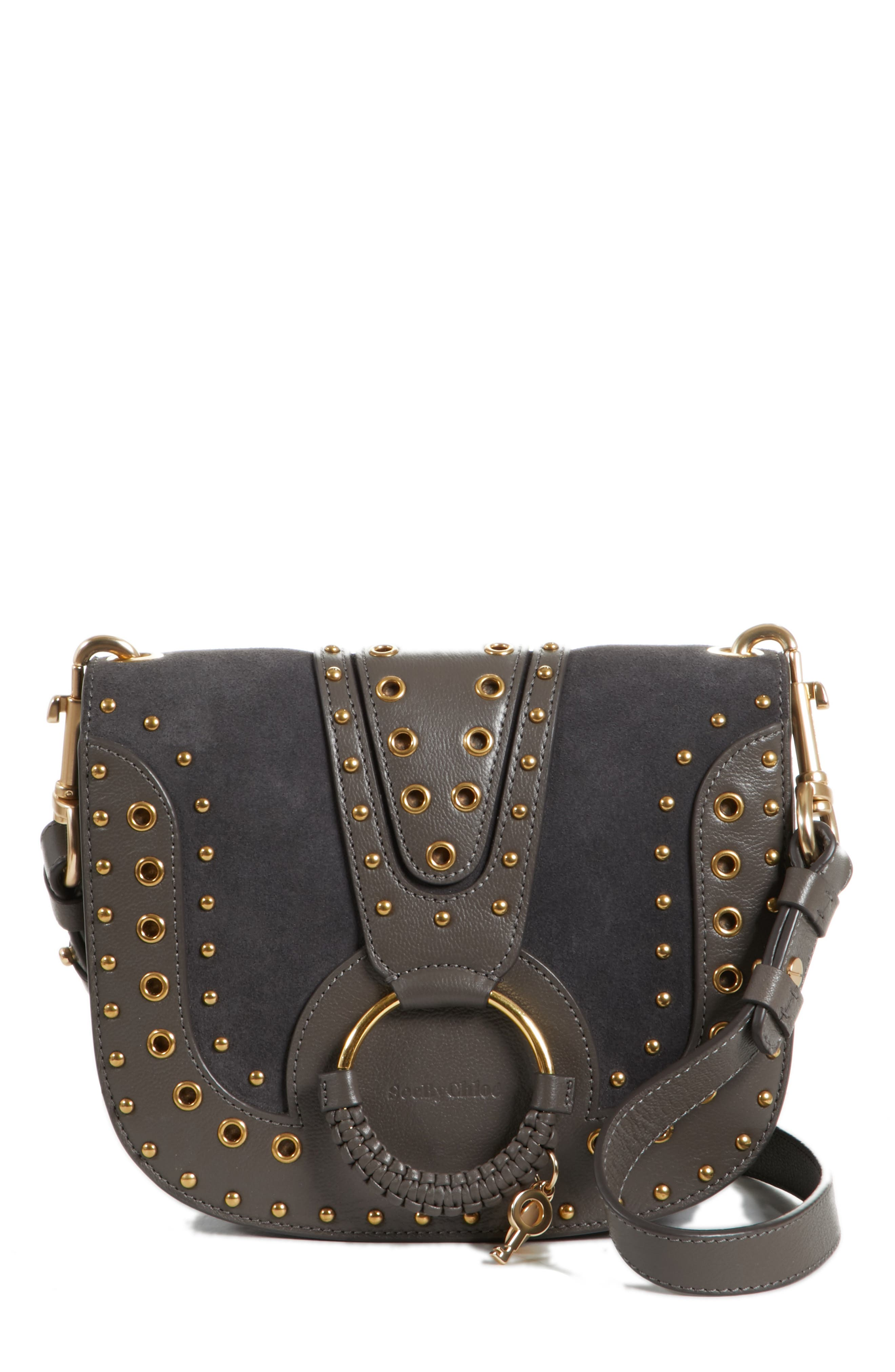 Small Hana Studded Leather Crossbody Bag,                             Main thumbnail 1, color,                             201