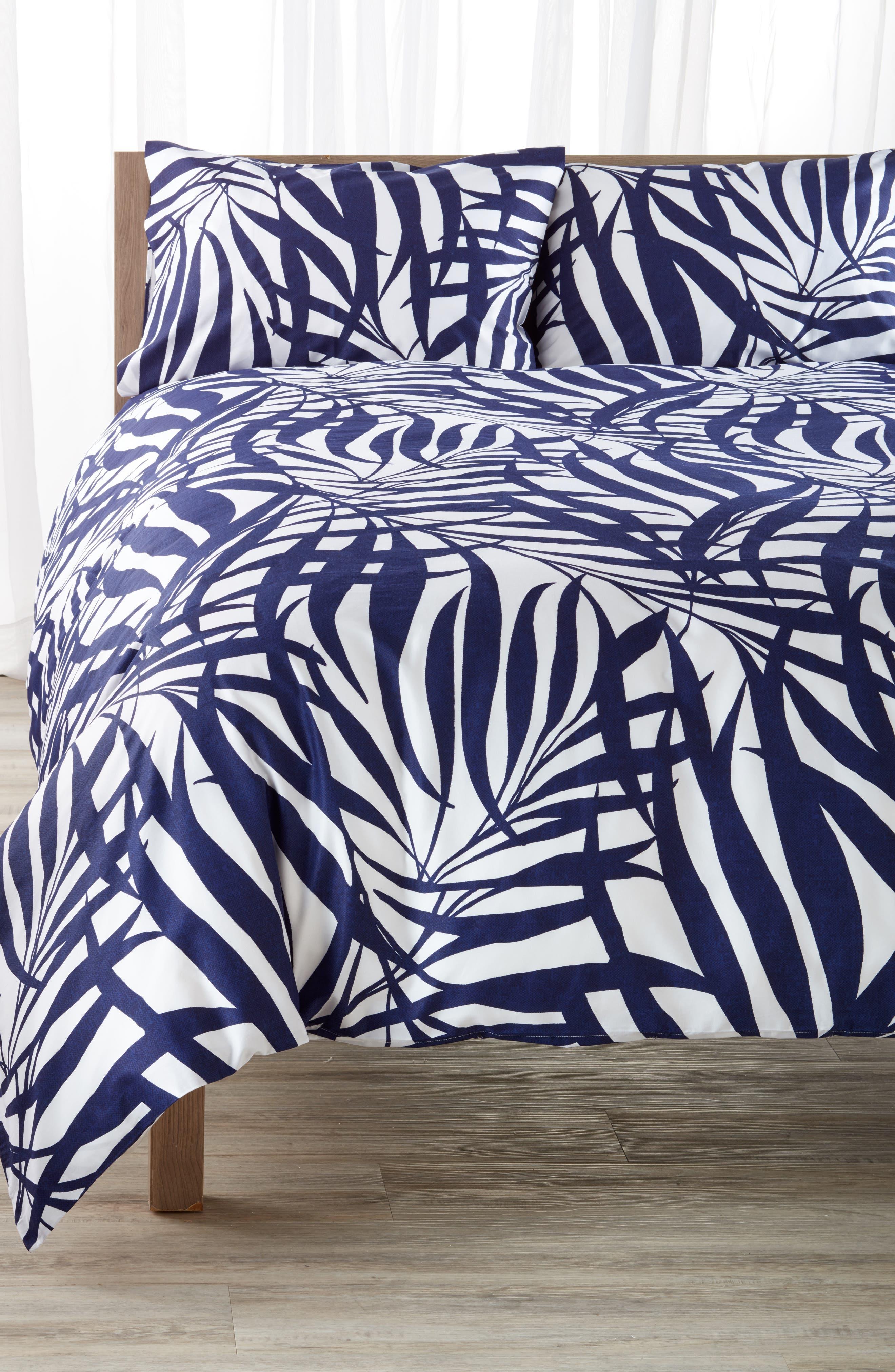 palm comforter & sham set,                         Main,                         color, 400
