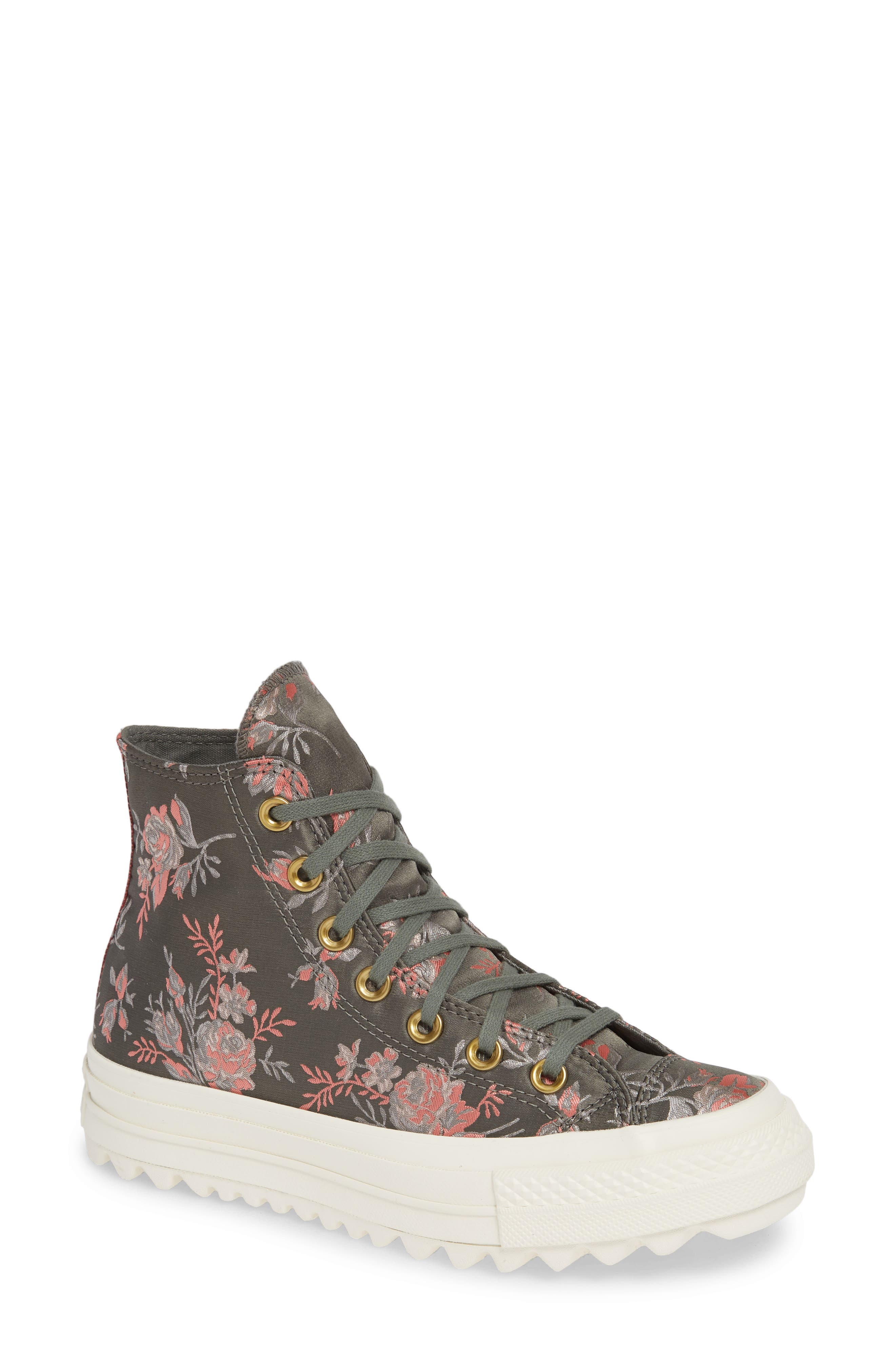 Chuck Taylor<sup>®</sup> All Star<sup>®</sup> Lift Ripple Parkway Floral High Top Sneaker,                             Main thumbnail 1, color,                             020