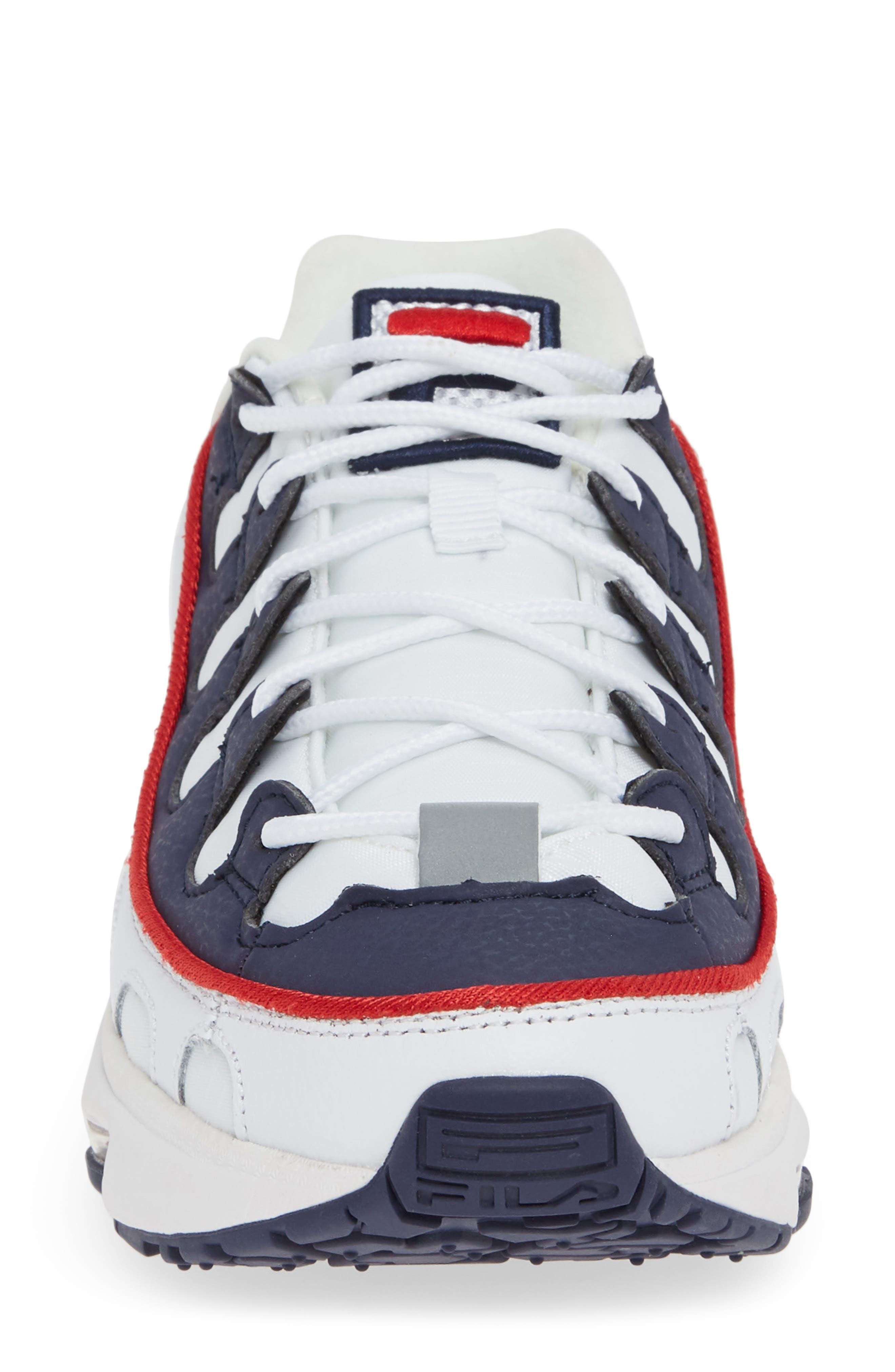 Silva Trainer Sneaker,                             Alternate thumbnail 4, color,                             WHITE/ NAVY/ RED