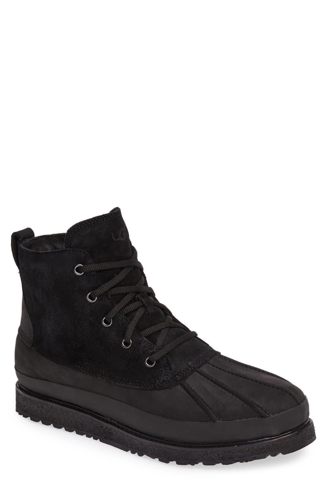 UGG<SUP>®</SUP>,                             Fairbanks Waterproof Boot,                             Main thumbnail 1, color,                             001