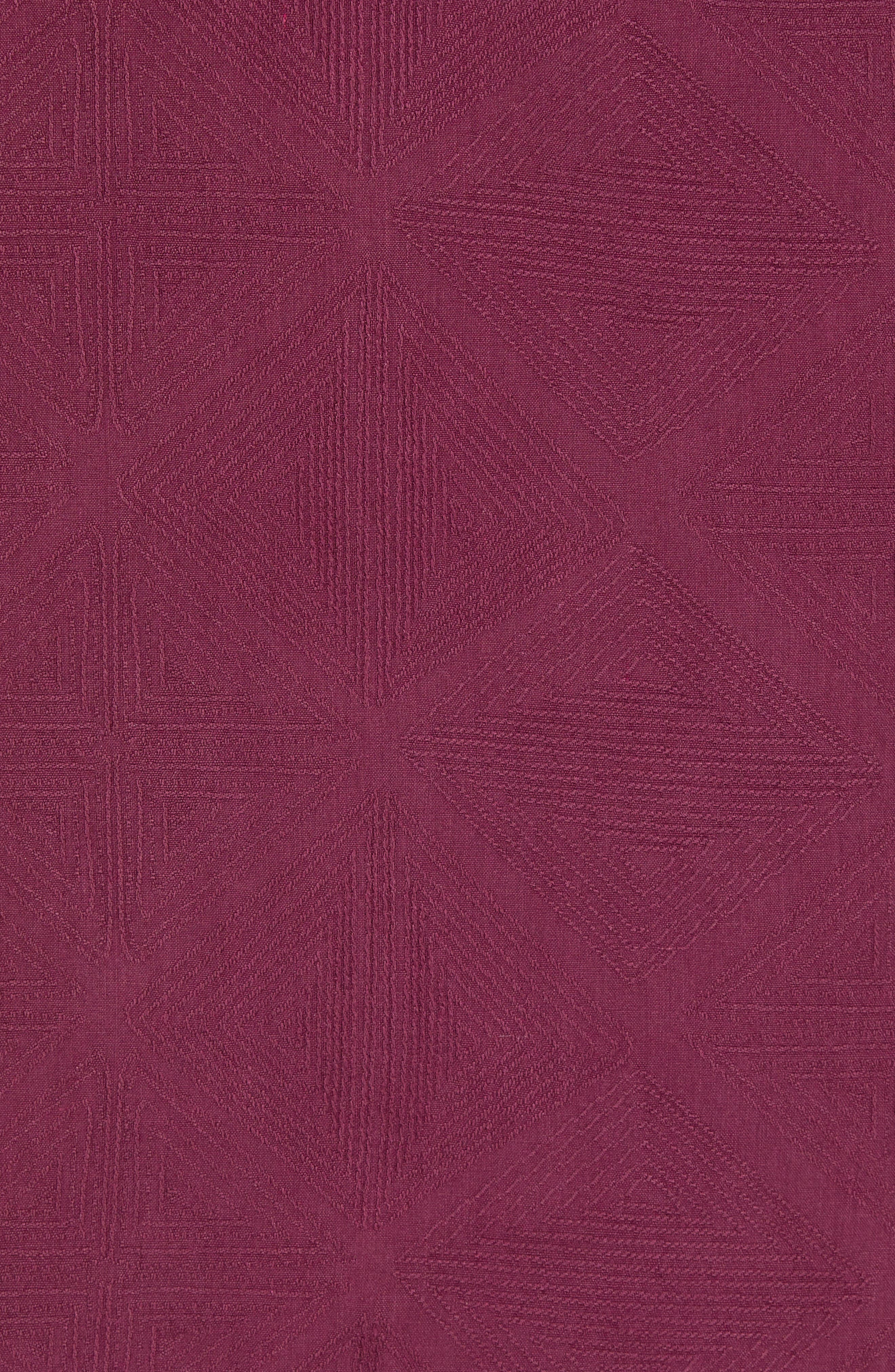 Pura Vino Embroidered Silk Sport Shirt,                             Alternate thumbnail 5, color,                             GRAPE WINE