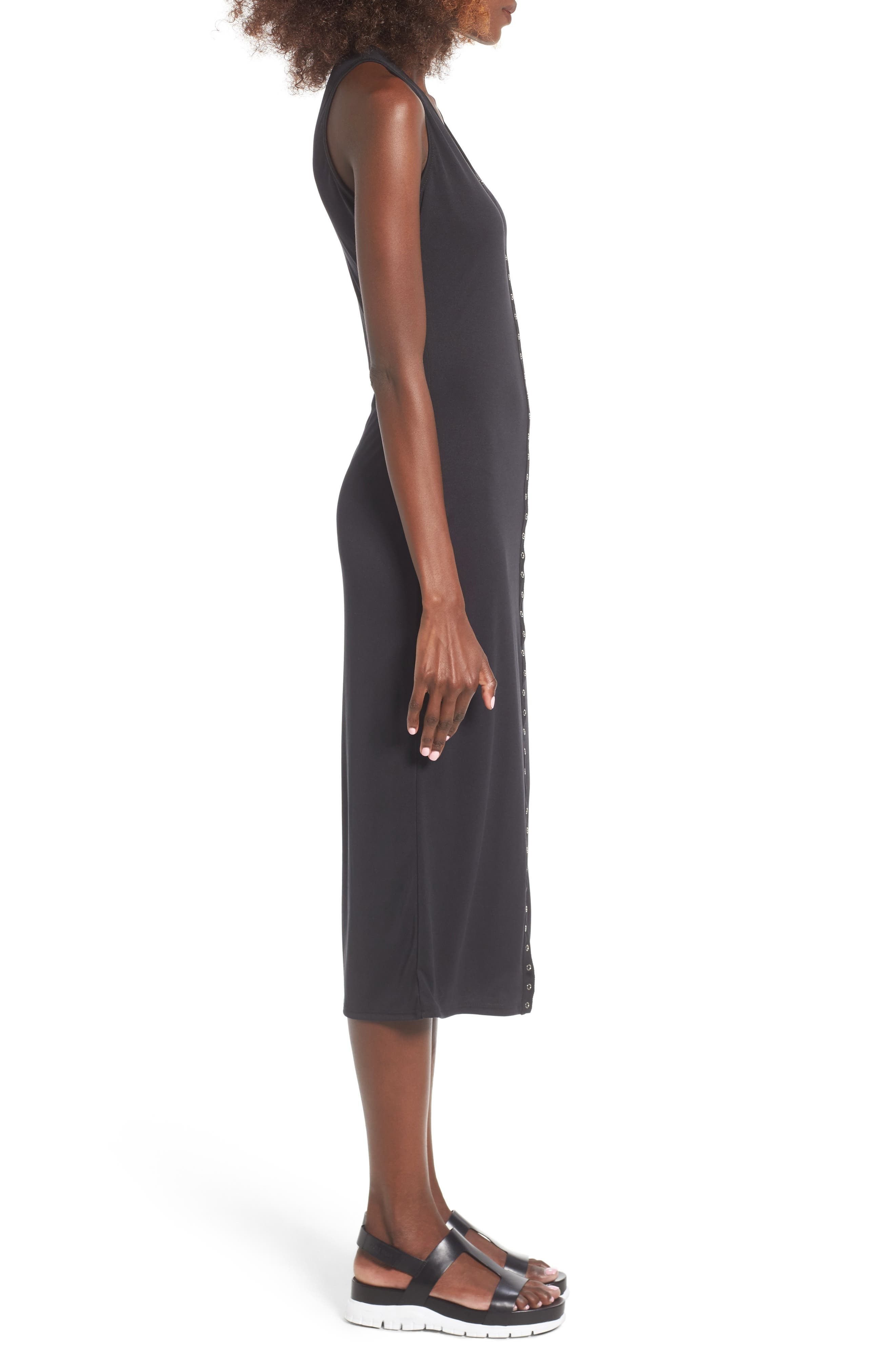 Snap Front Midi Dress,                             Alternate thumbnail 11, color,