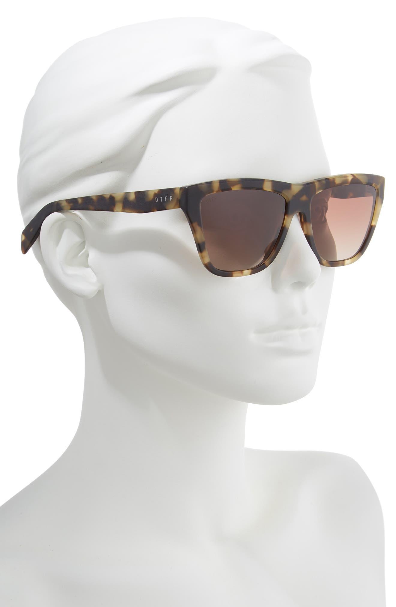 Harper 57mm Polarized Gradient Sunglasses,                             Alternate thumbnail 2, color,                             HAVANA/ BROWN