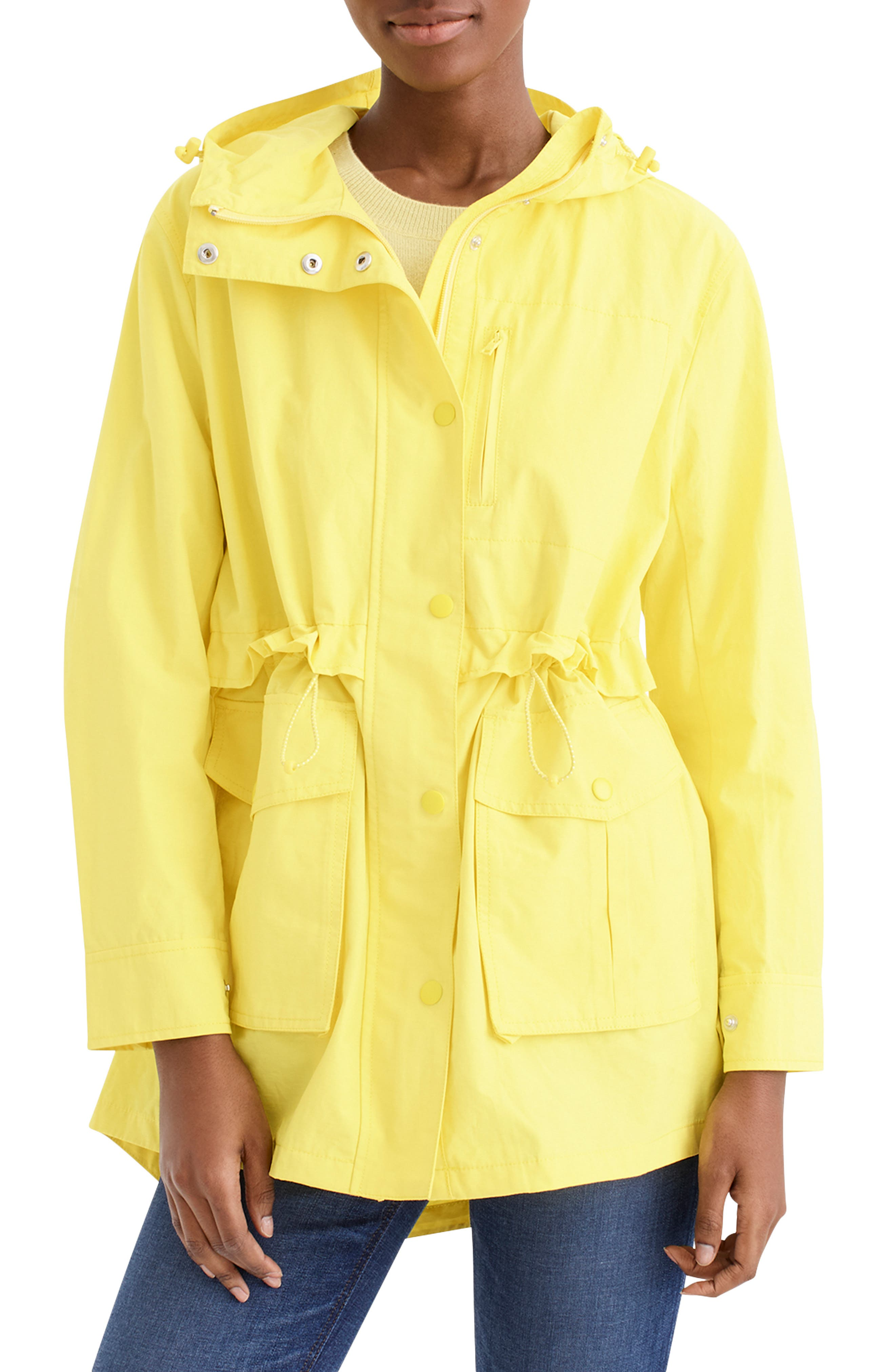 J.CREW Perfect Raincoat, Main, color, DAZZLING SUN