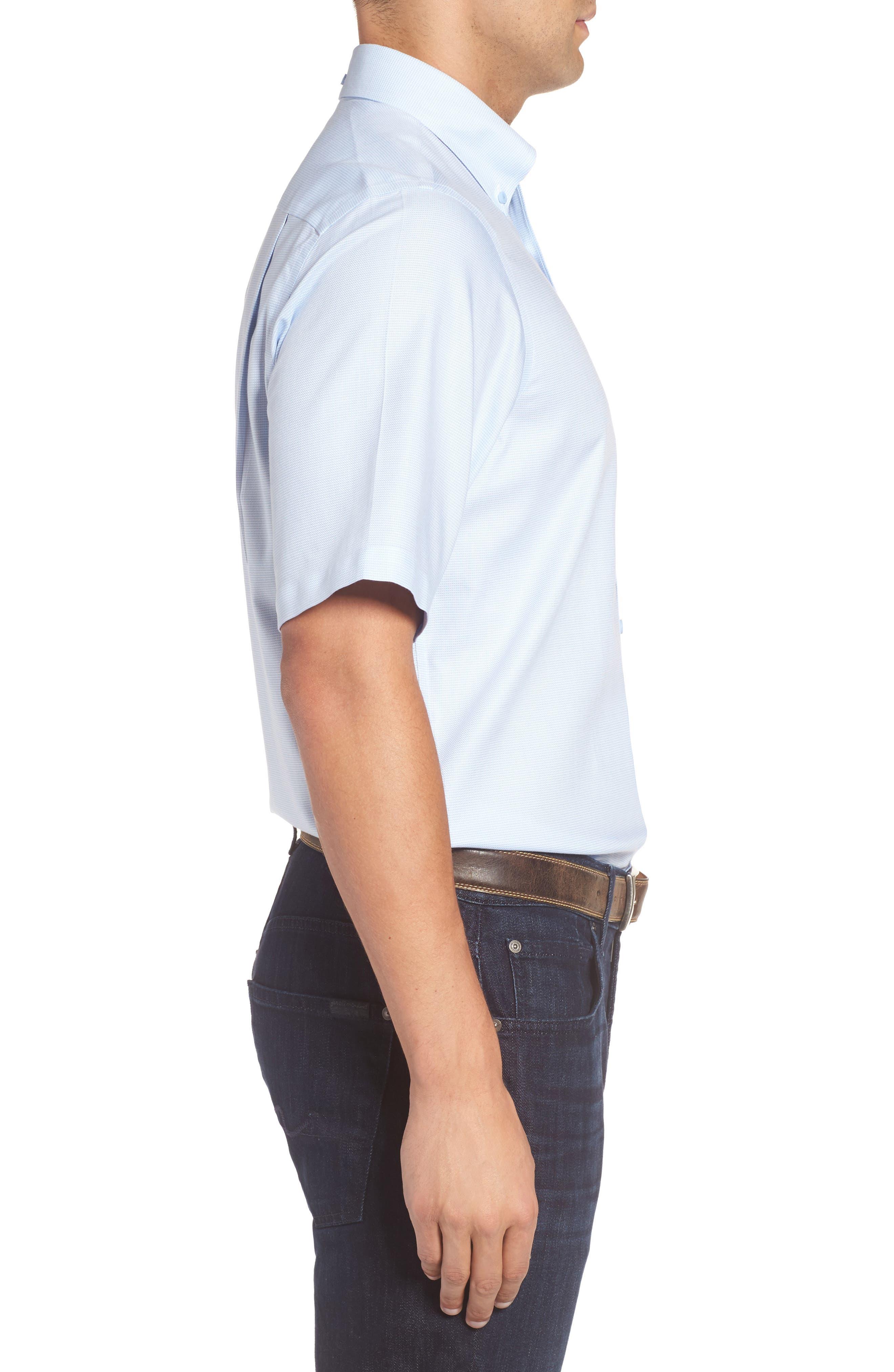 'Classic' Smartcare<sup>™</sup> Regular Fit Short Sleeve Cotton Sport Shirt,                             Alternate thumbnail 75, color,