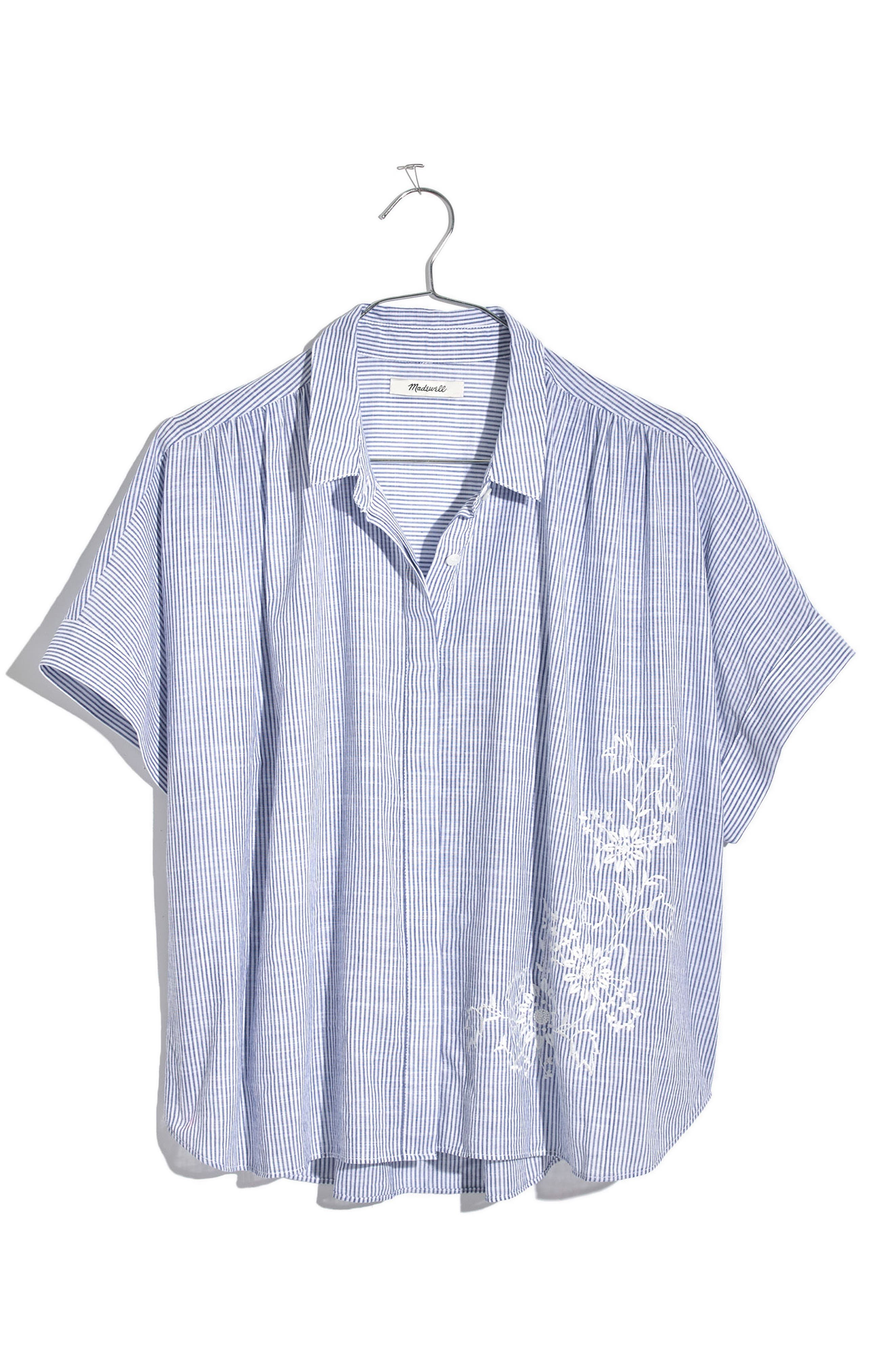 MADEWELL,                             Embroidered Hilltop Shirt,                             Alternate thumbnail 4, color,                             400