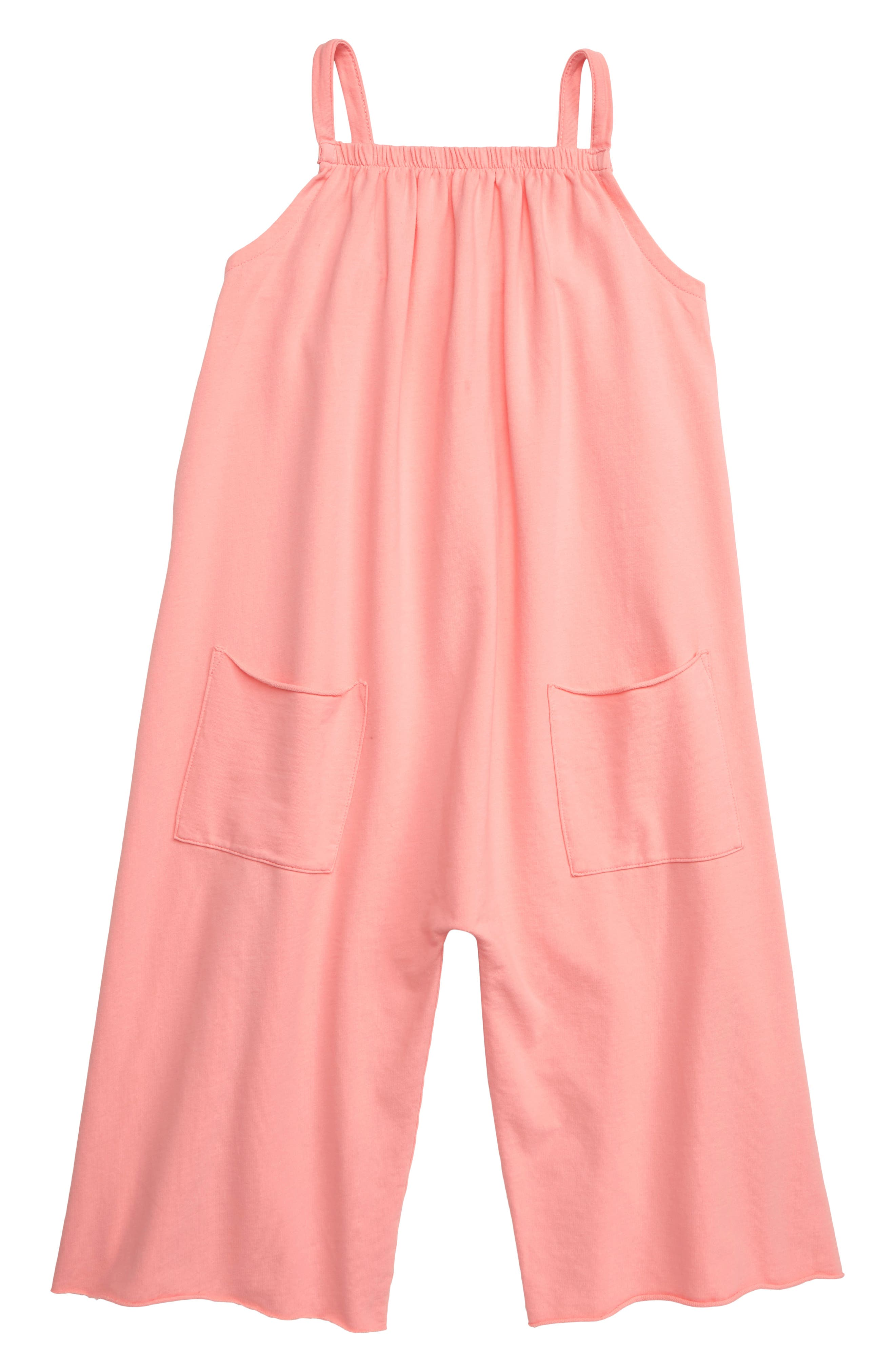 Toddler Girls Stem Gaucho Jumpsuit Size 3T  Pink