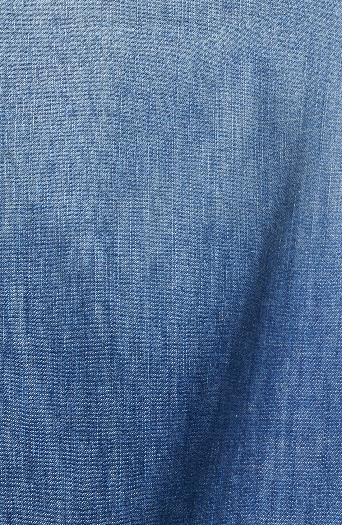 'The Perfect' Button Front Denim Shirt,                             Alternate thumbnail 6, color,                             450