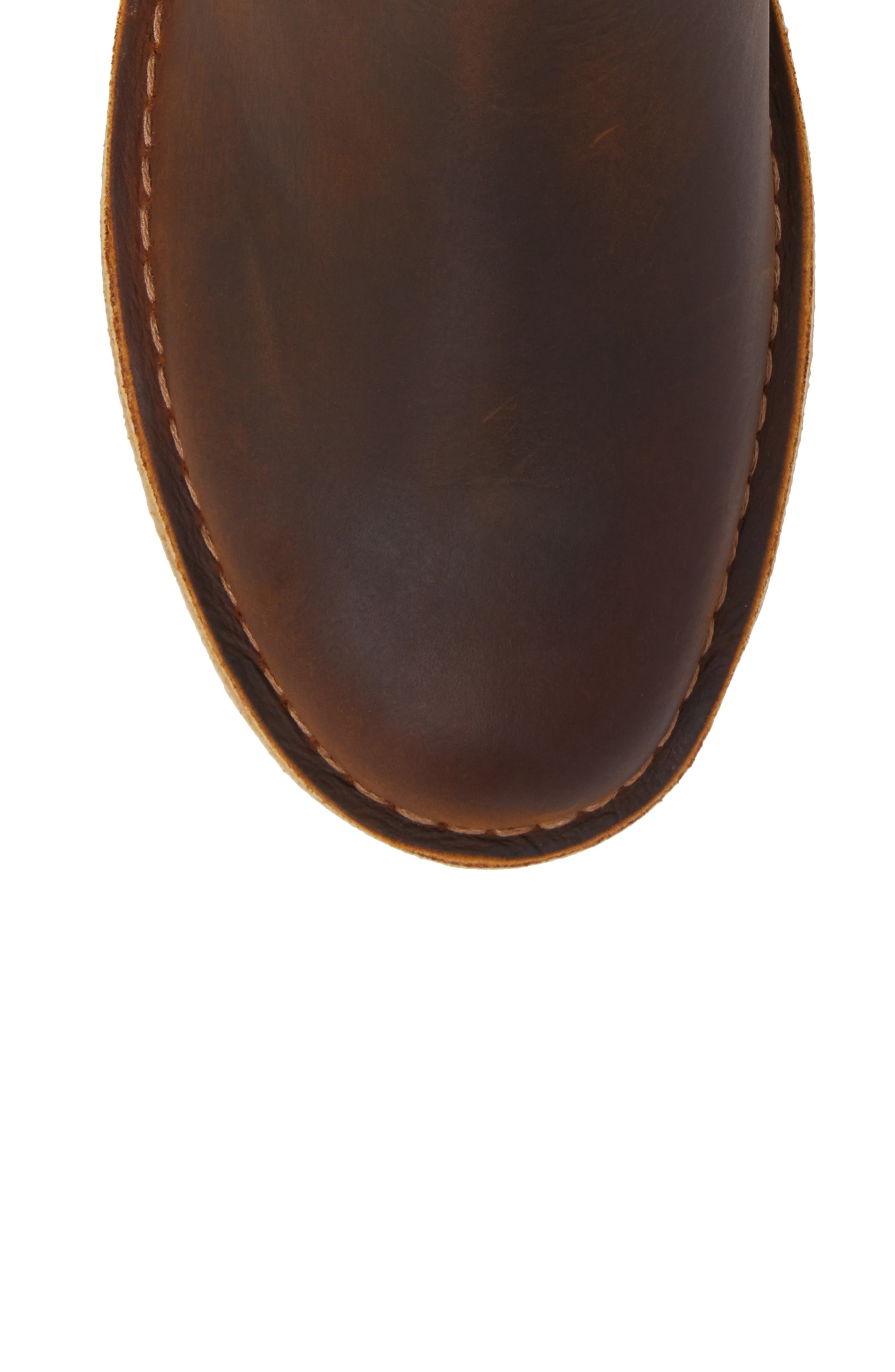 CLARKS<SUP>®</SUP>,                             Desert Peak Chelsea Boot,                             Alternate thumbnail 5, color,                             MEDIUM BROWN BEESWAX LEATHER