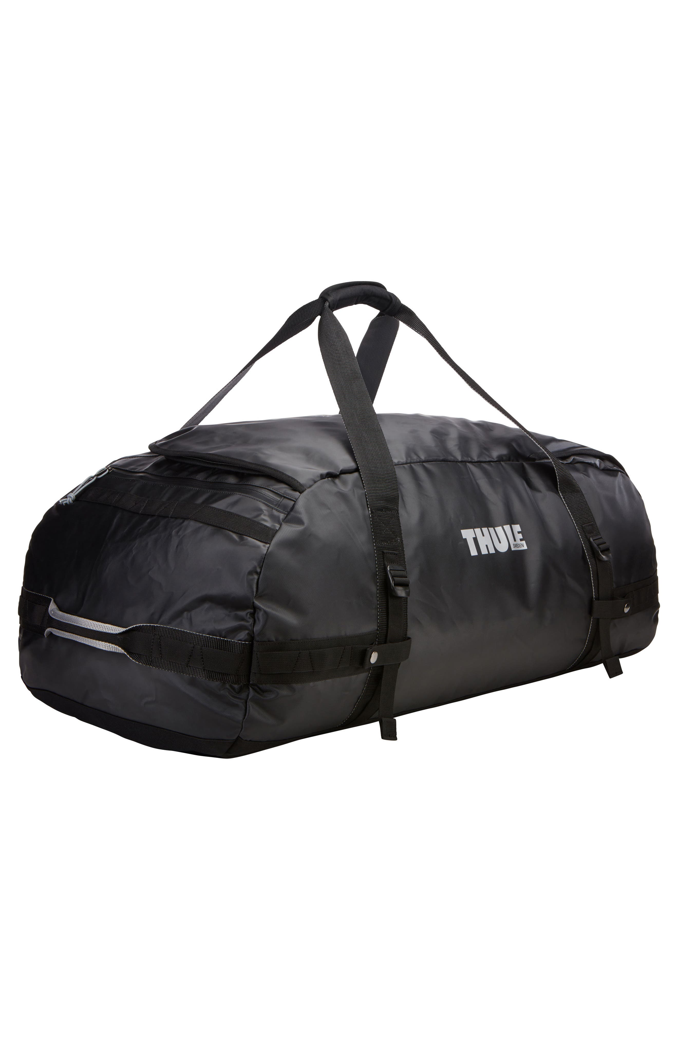 Chasm 130-Liter Convertible Duffel Bag,                             Alternate thumbnail 8, color,                             BLACK