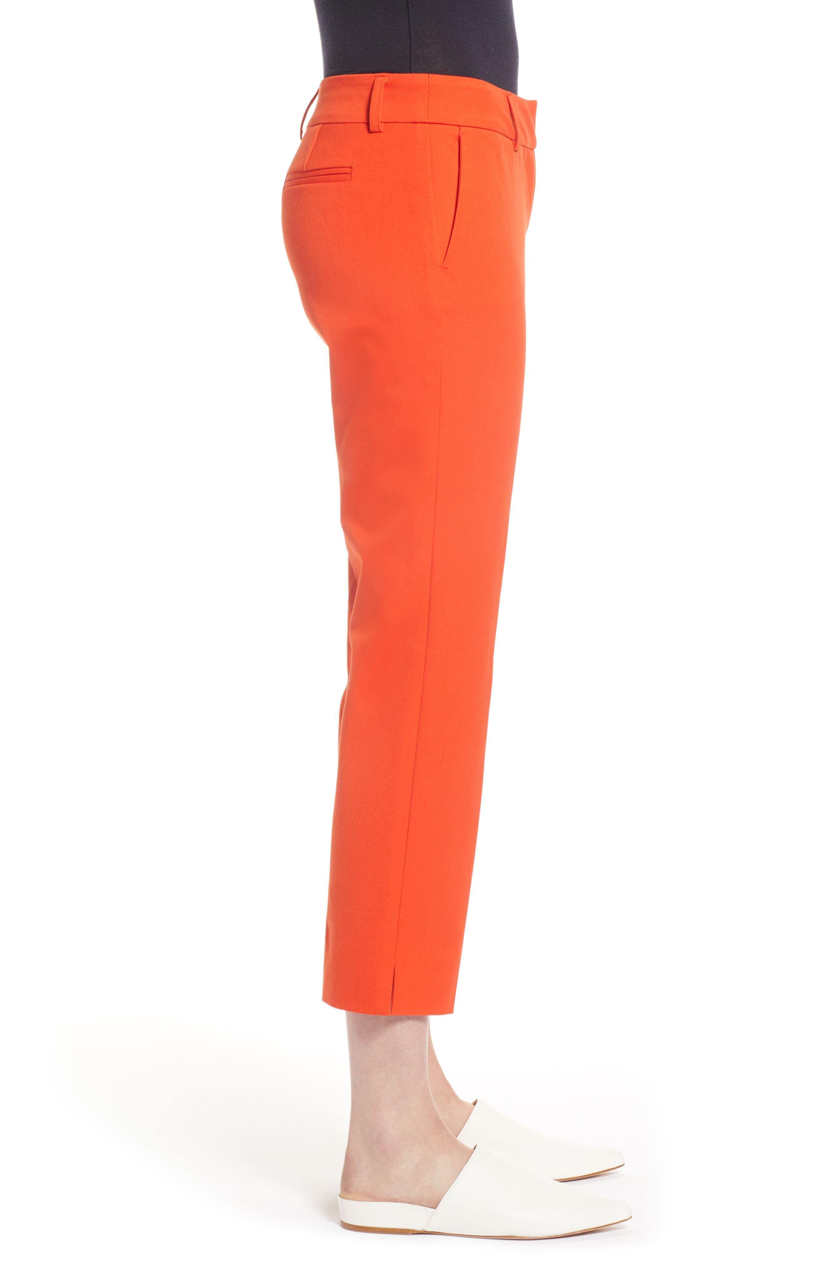 Crop Stretch Cotton Pants,                             Alternate thumbnail 48, color,