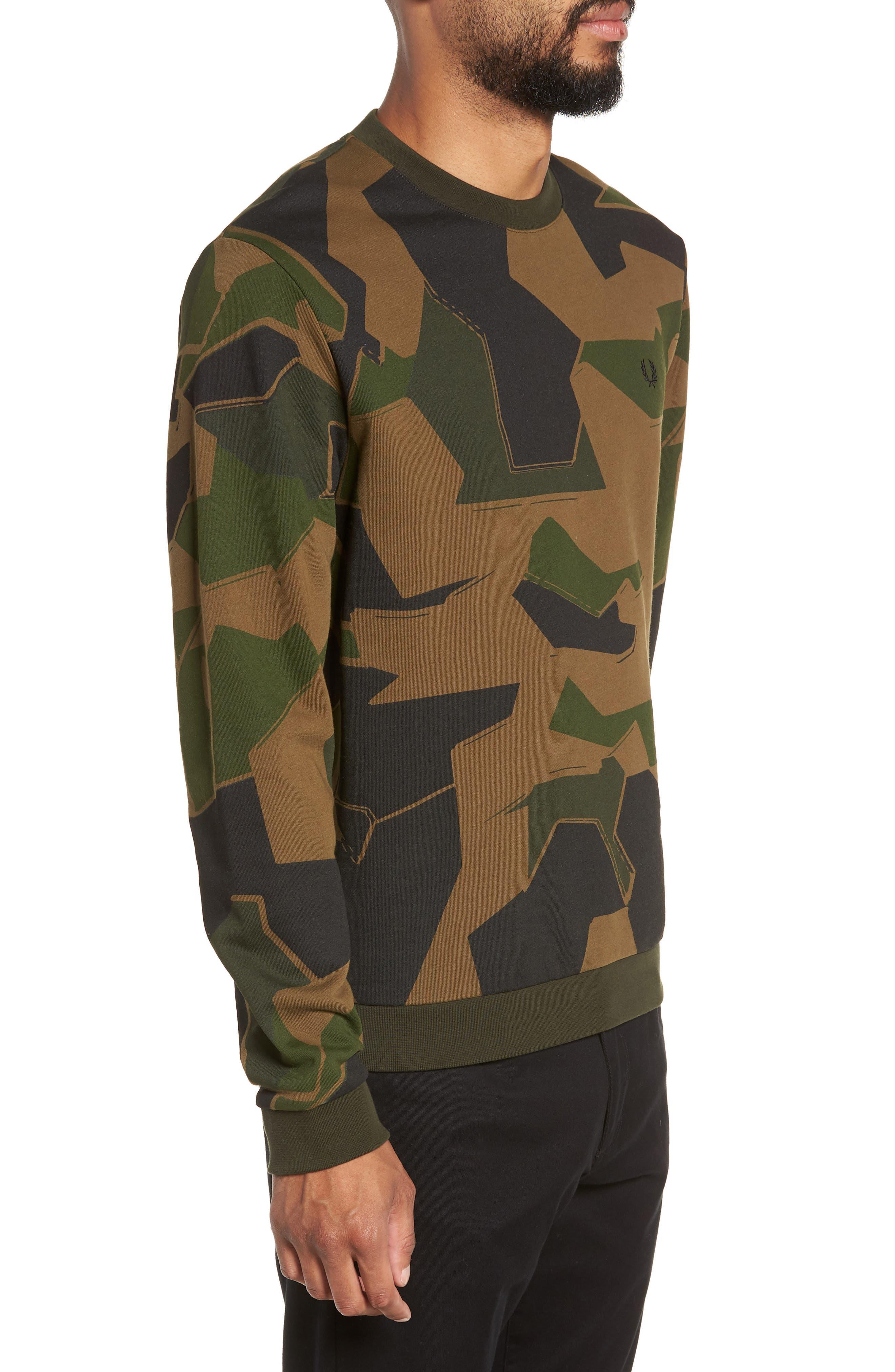 Camoflage Sweatshirt,                             Alternate thumbnail 3, color,                             WOODLAND CAMO