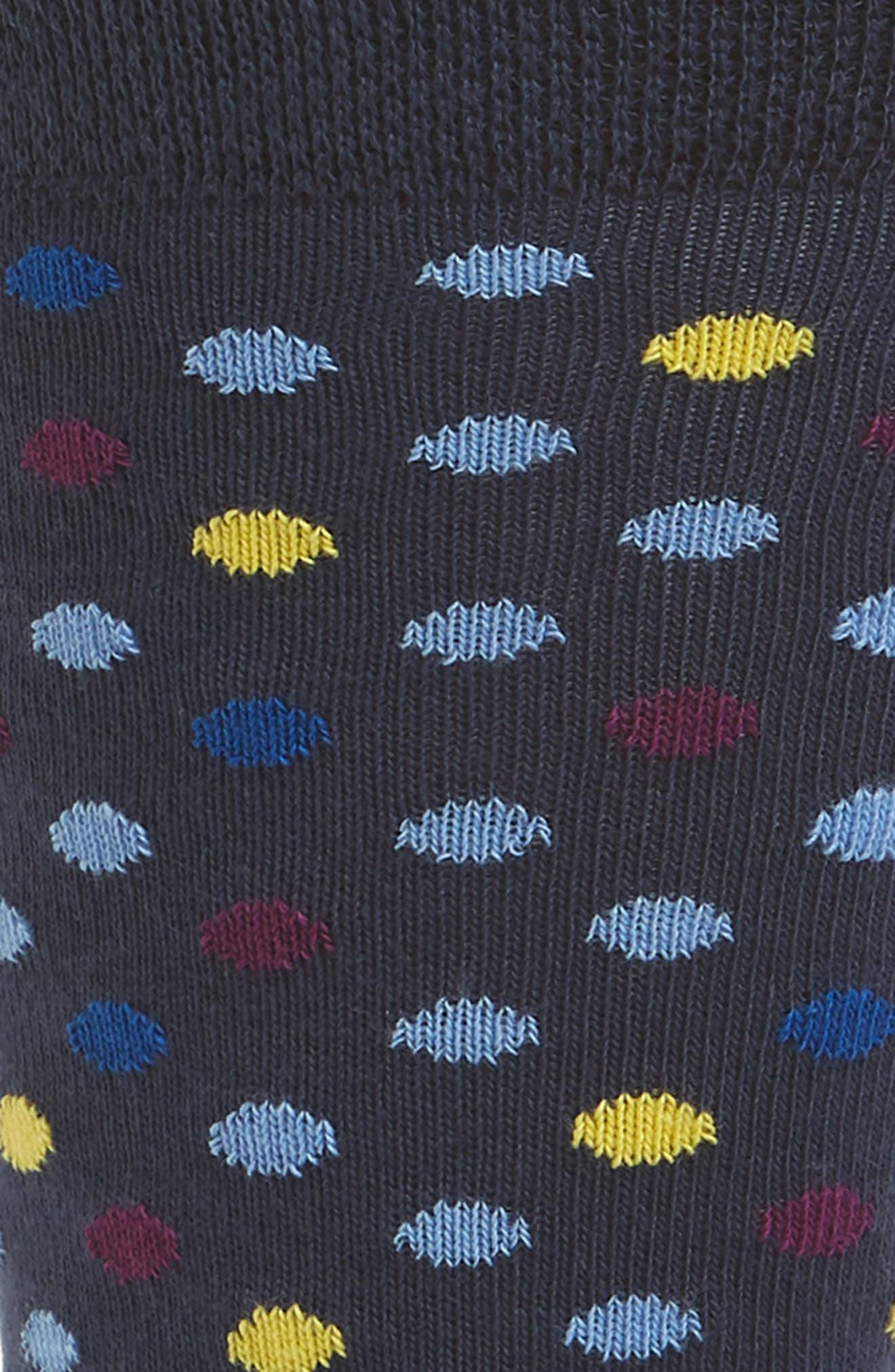 Aluren Dot Socks,                             Alternate thumbnail 2, color,                             NAVY