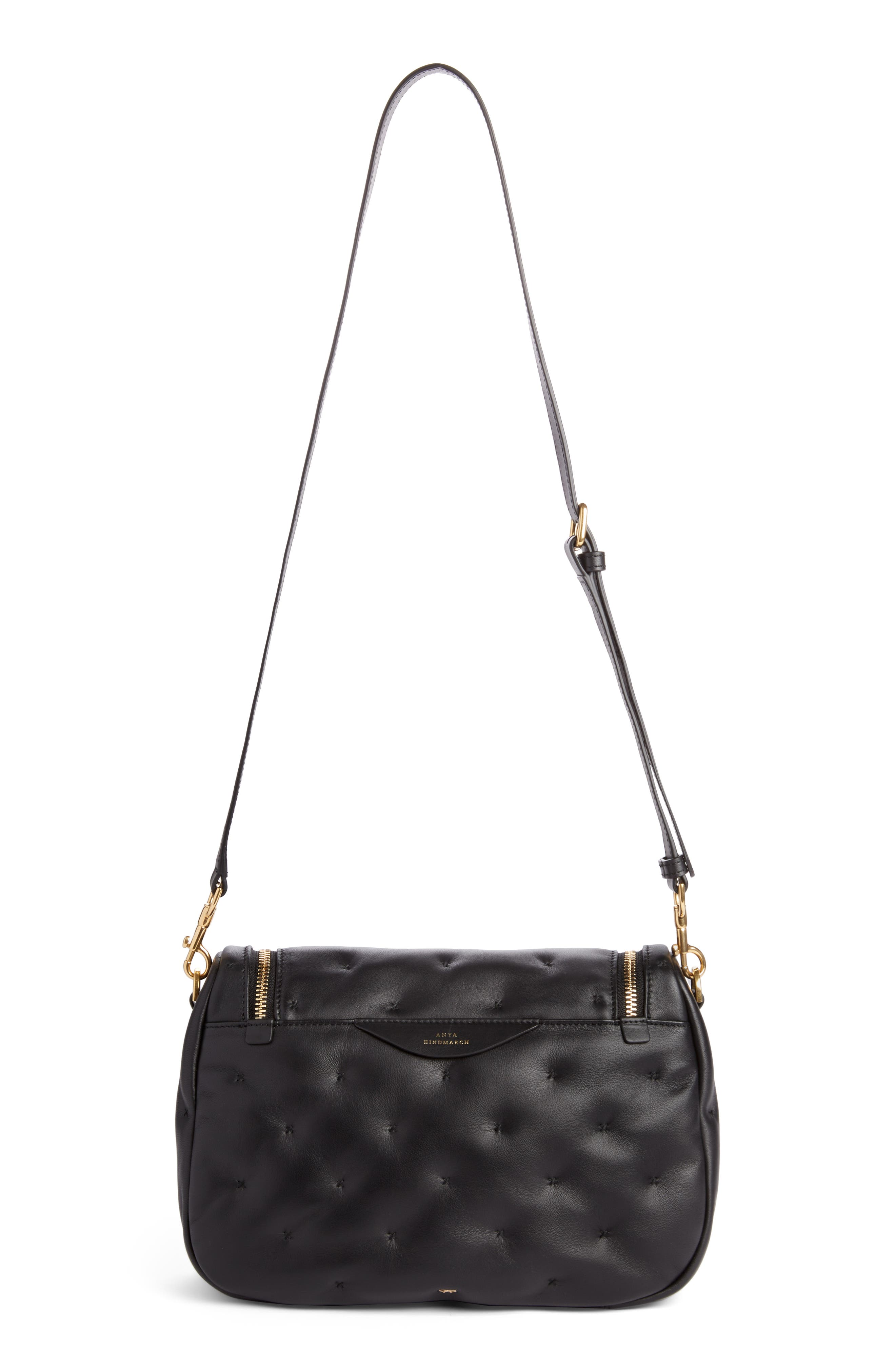 Small Vere Chubby Lambskin Leather Satchel,                             Alternate thumbnail 2, color,                             BLACK