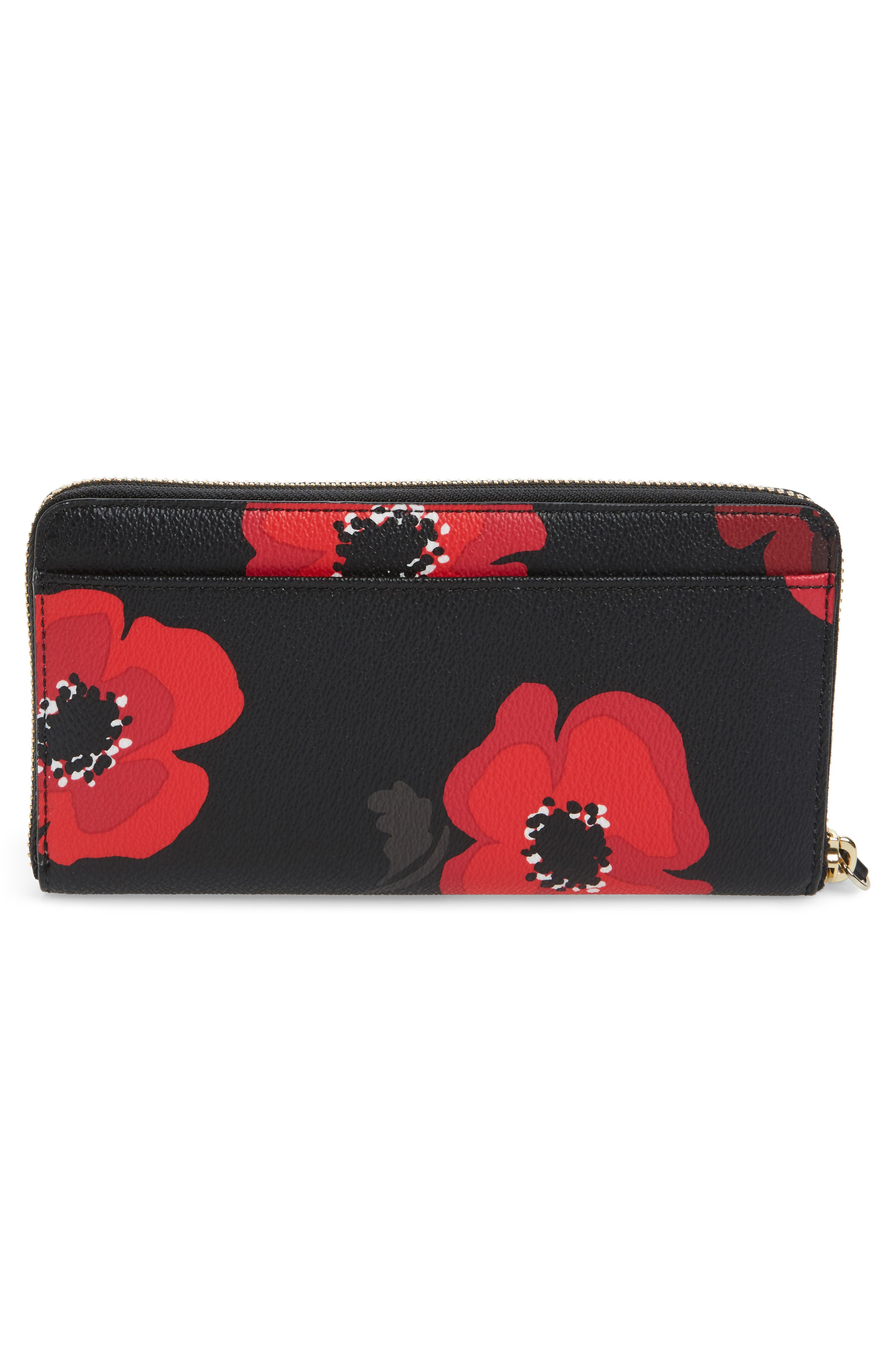 hyde lane poppy michele leather wallet,                             Alternate thumbnail 3, color,                             001