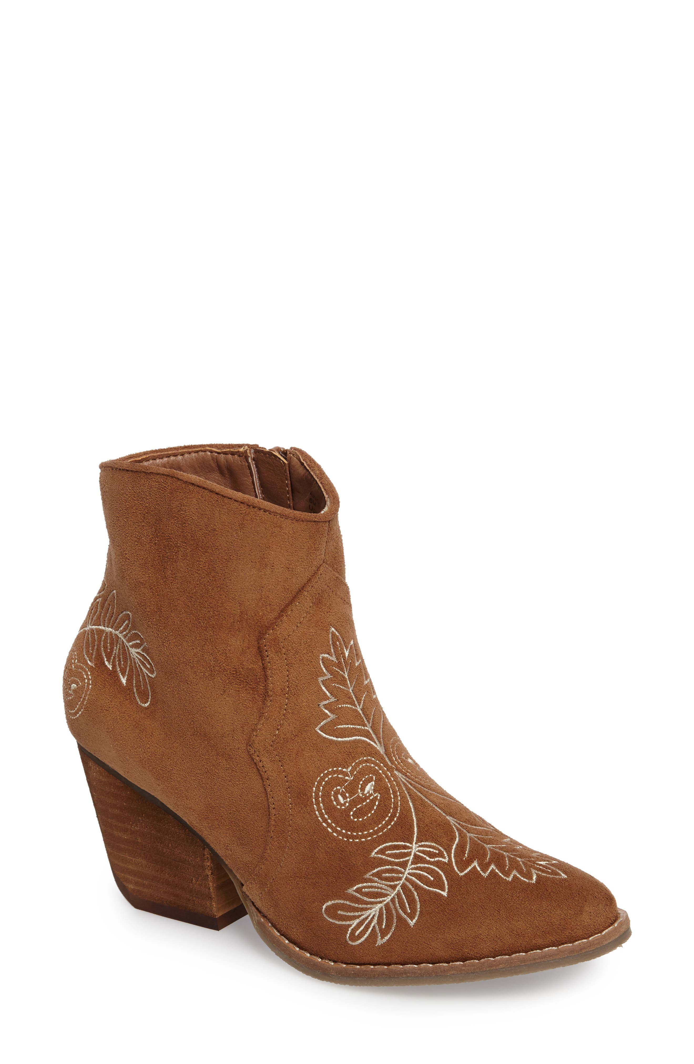 Axis Embroidered Bootie,                             Main thumbnail 1, color,
