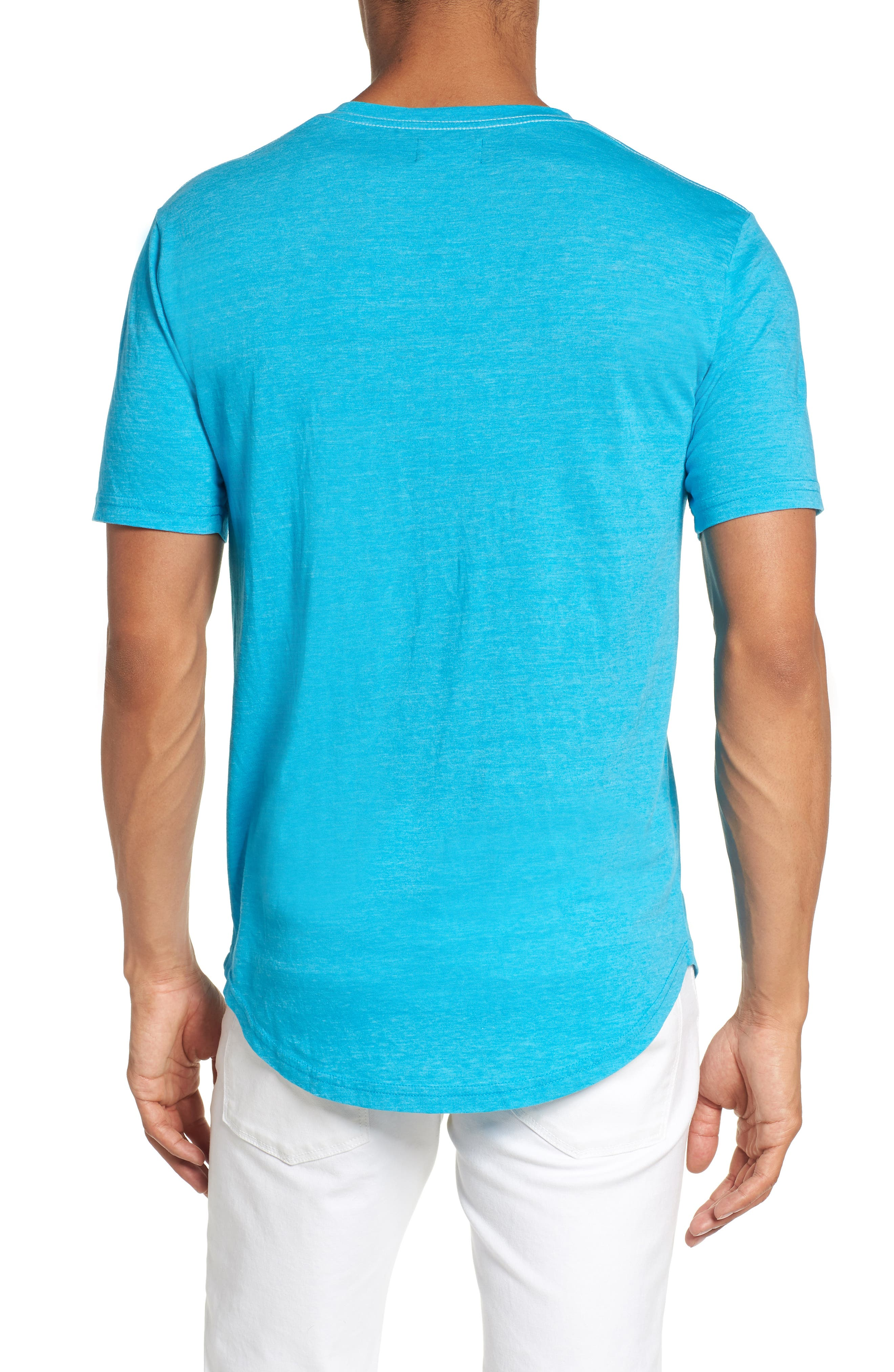 Scallop Triblend V-Neck T-Shirt,                             Alternate thumbnail 32, color,