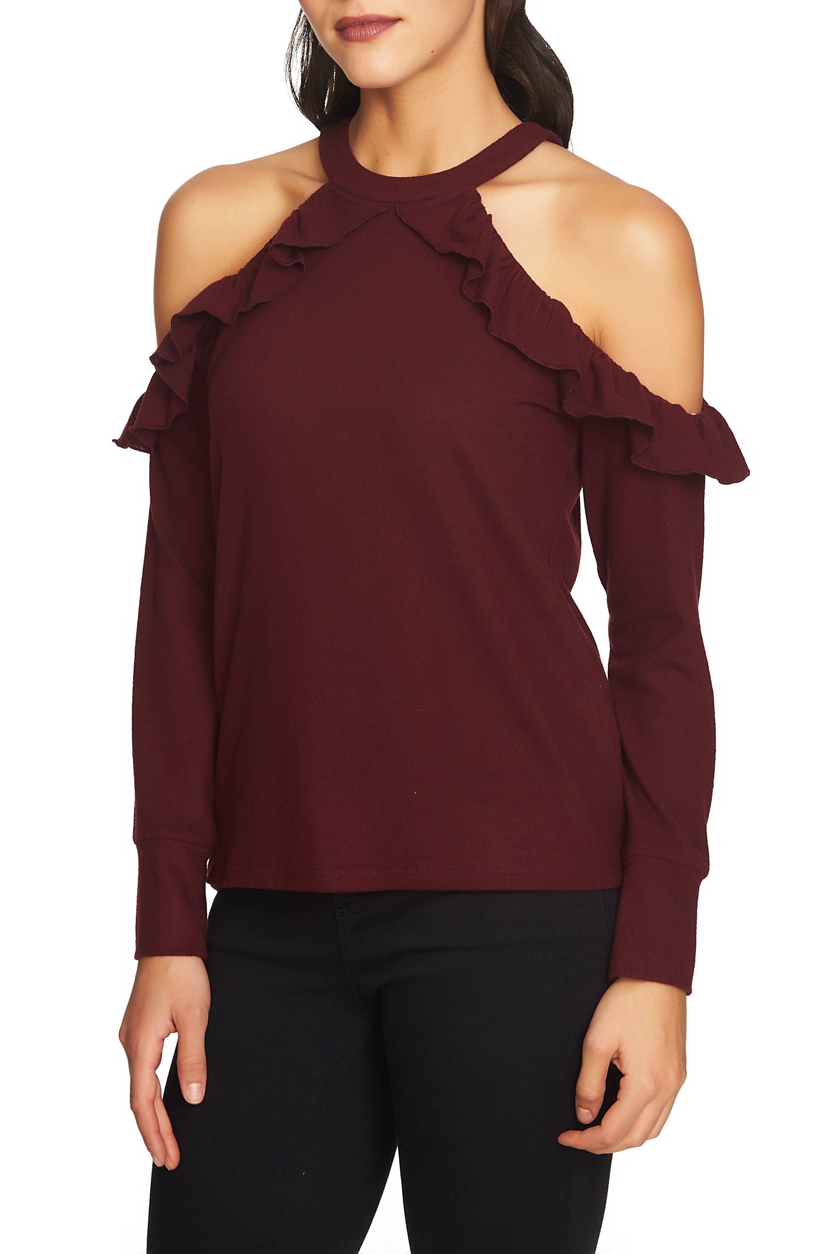 The Cozy Cold Shoulder Knit Top,                             Main thumbnail 4, color,
