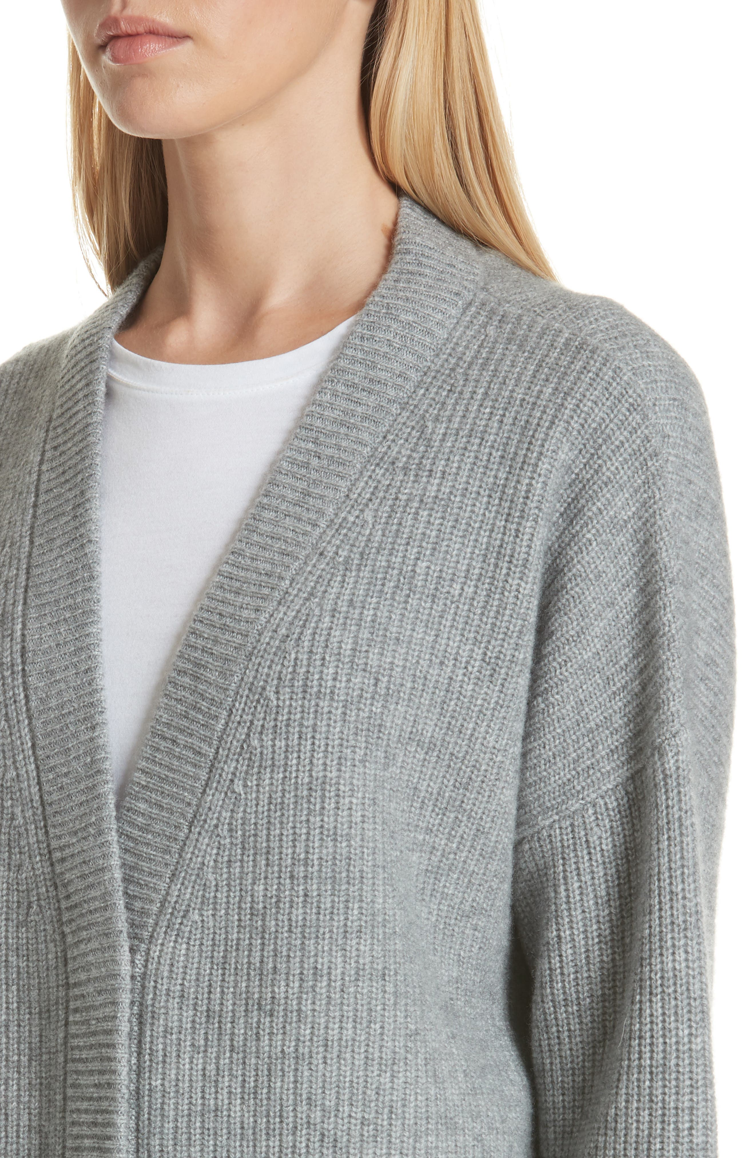 One-Pocket Cashmere Cardigan,                             Alternate thumbnail 4, color,                             030